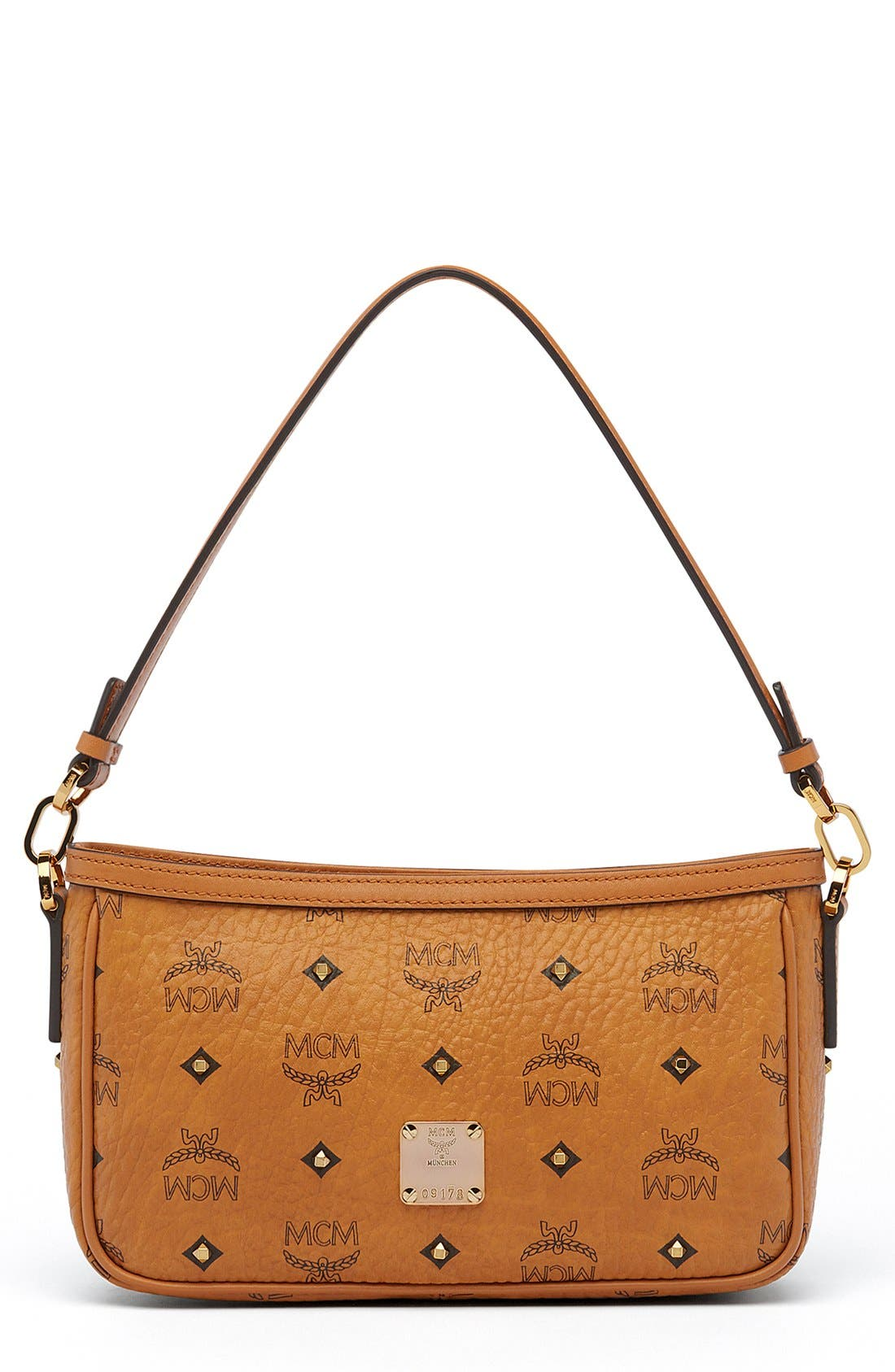 MCM 'Small Visetos' Convertible Coated Canvas Shoulder Bag