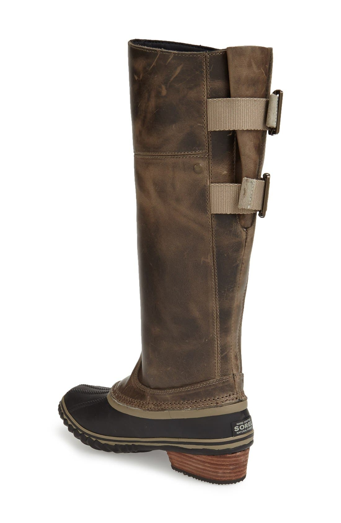 'Slimpack II' Waterproof Riding Boot,                             Alternate thumbnail 2, color,                             Dark Fog
