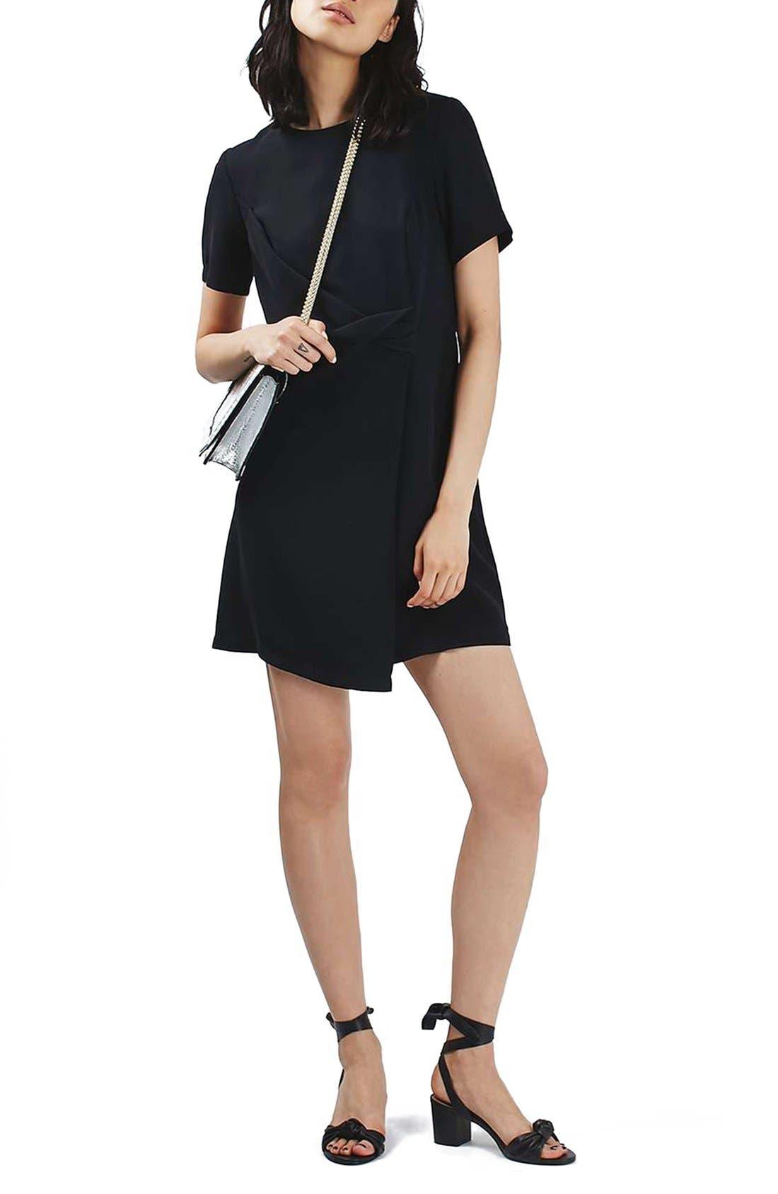 Main Image - Topshop Drape Front Dress