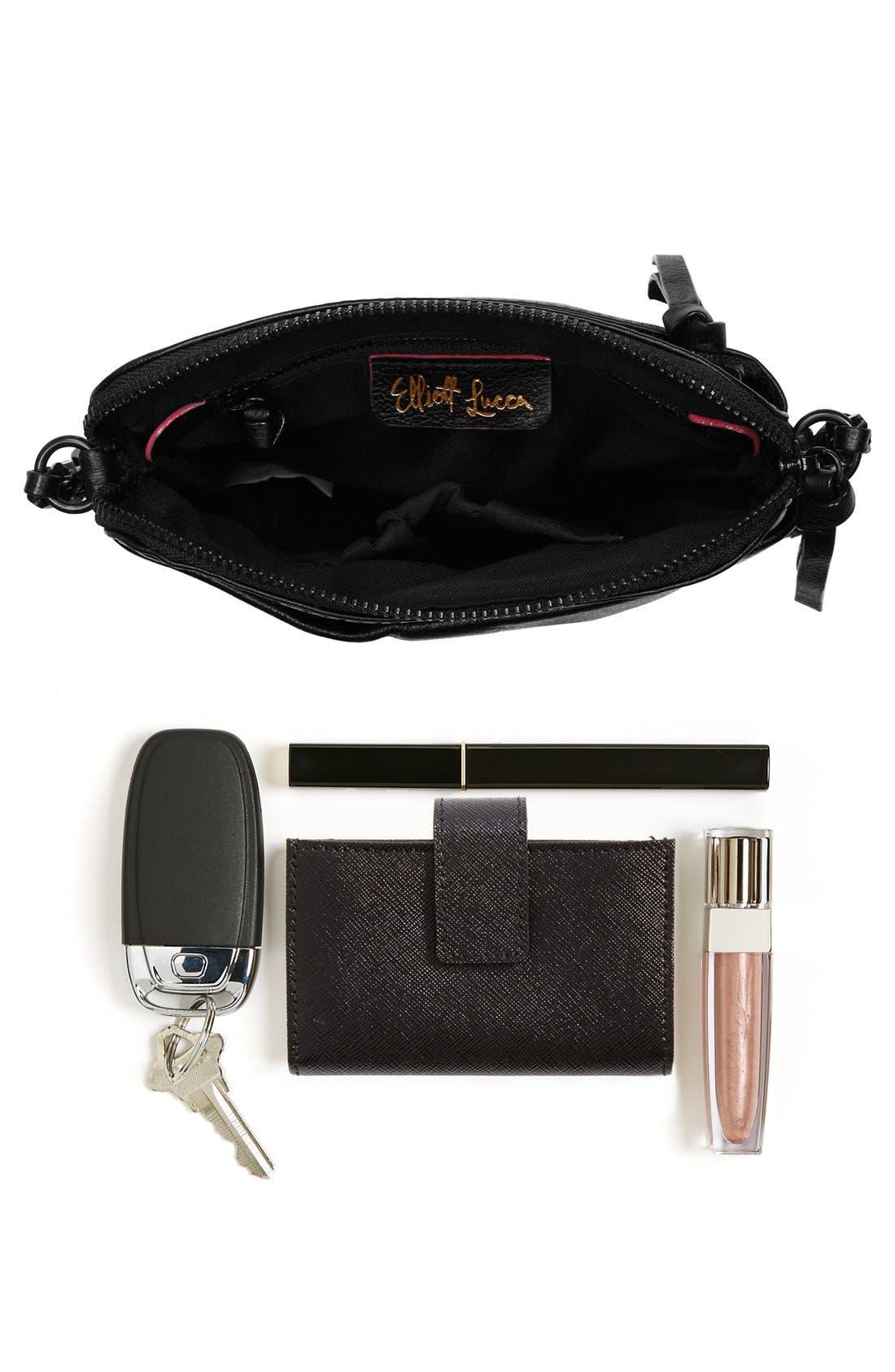 'Zoe Camera' Leather Crossbody Bag,                             Alternate thumbnail 4, color,                             Black