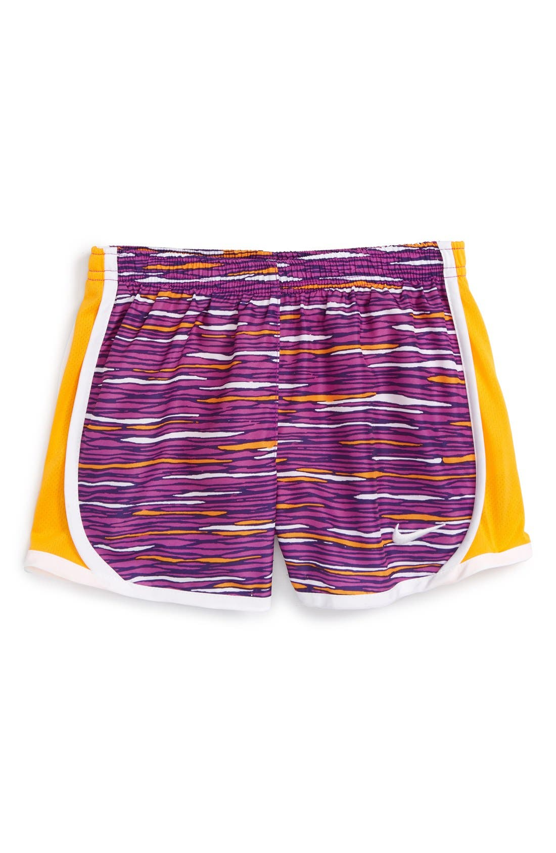 Alternate Image 1 Selected - Nike 'Tempo' Dri-FIT Athletic Shorts (Little Girls)