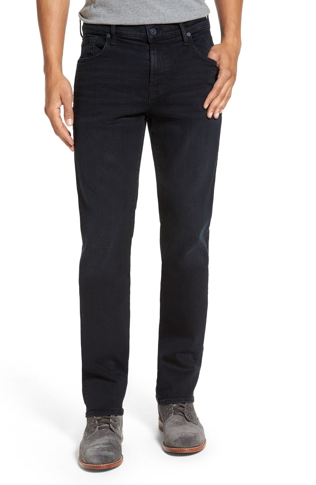 Main Image - 7 For All Mankind® 'Standard - Luxe Performance' Straight Leg Jeans (Stockholme)