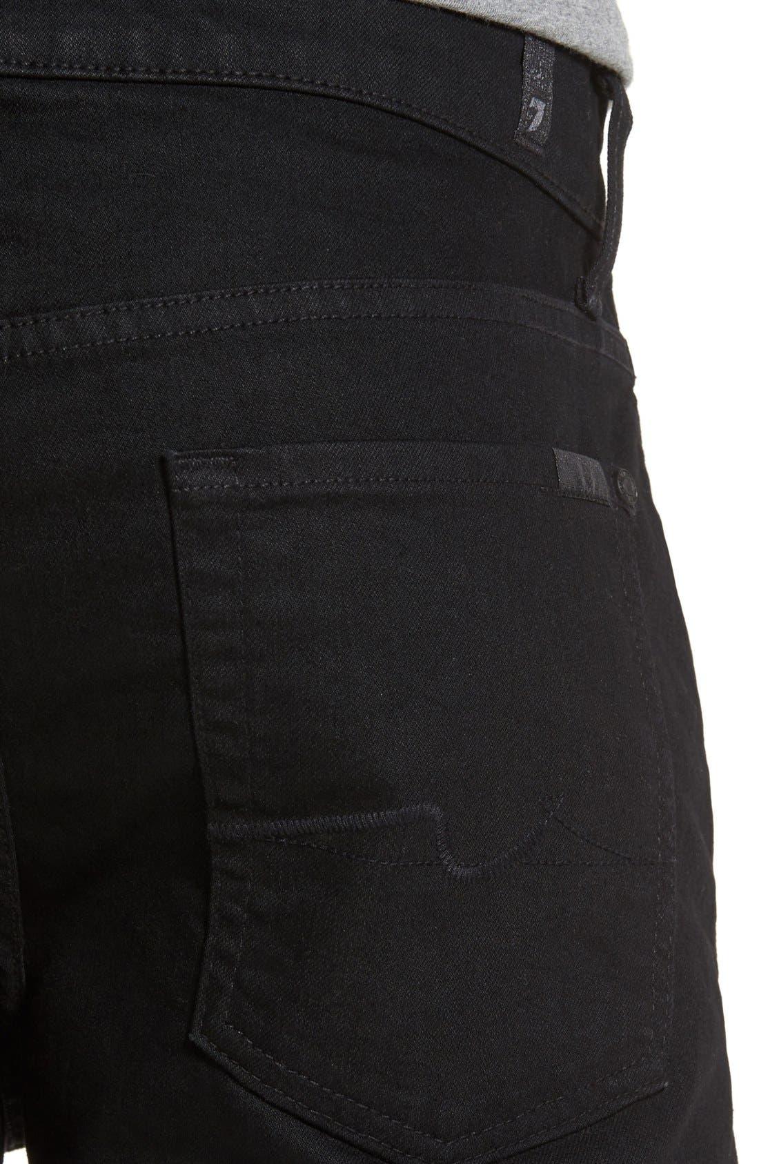 Alternate Image 4  - 7 For All Mankind® Slimmy Slim Fit Jeans (Towne Black)