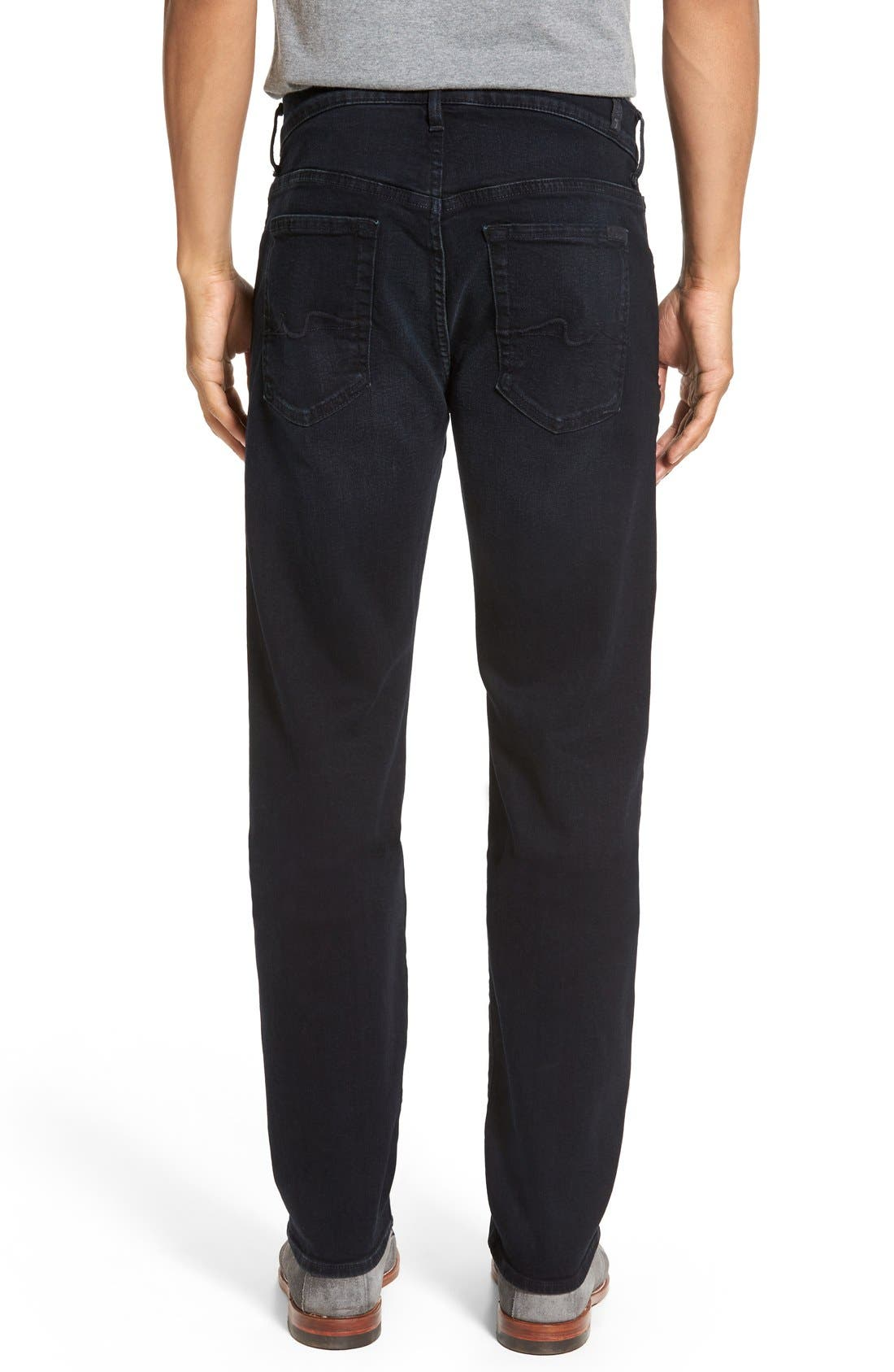 Alternate Image 2  - 7 For All Mankind® 'Standard - Luxe Performance' Straight Leg Jeans (Stockholme)