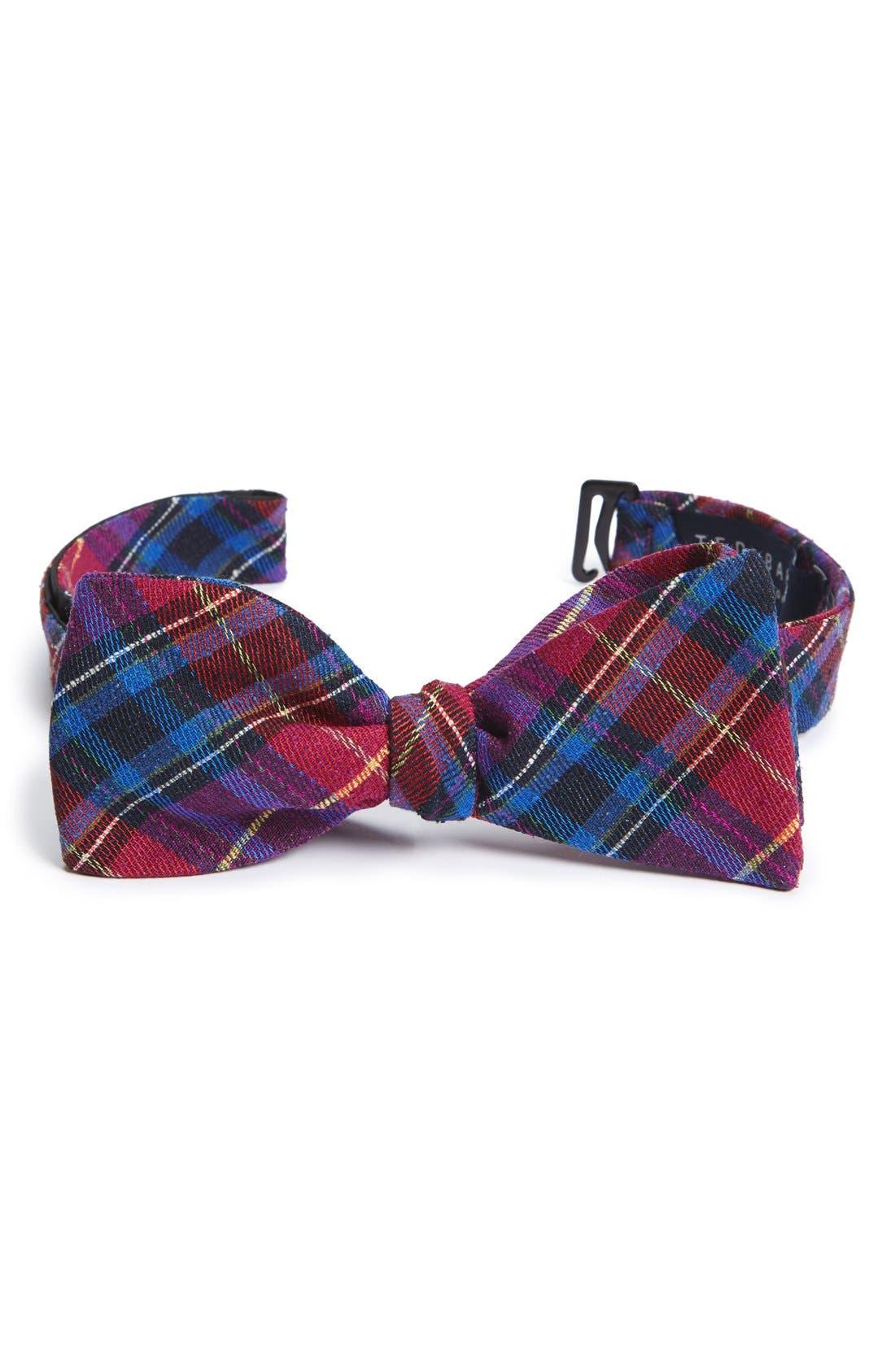Ted Baker London Plaid Silk Bow Tie
