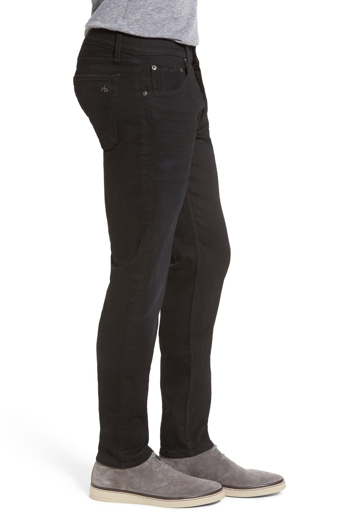 Standard Issue 'Fit 2' Slim Fit Jeans,                             Alternate thumbnail 3, color,                             Worn Black