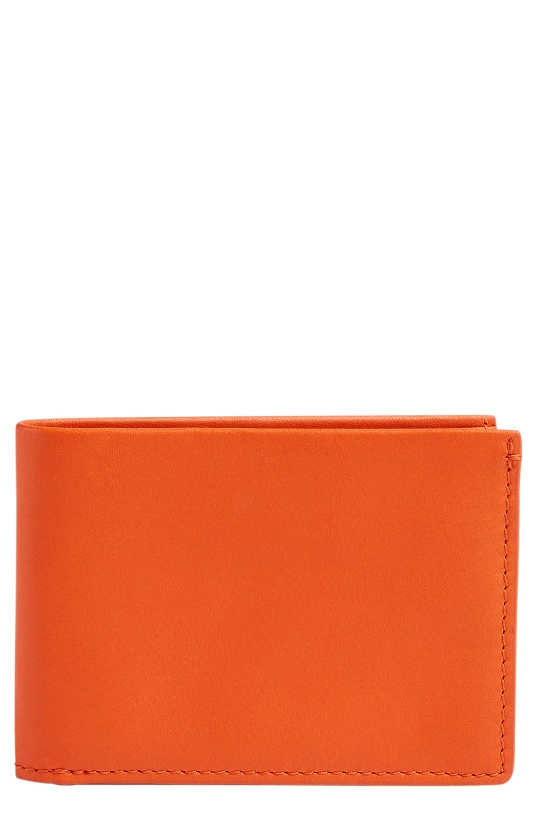 'Ambold' Leather Wallet,                         Main,                         color, Bright Orange