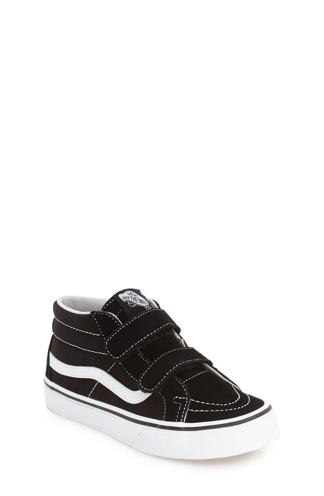 'Sk8-Hi Reissue V' Sneaker,                             Main thumbnail 1, color,                             Black/ True White
