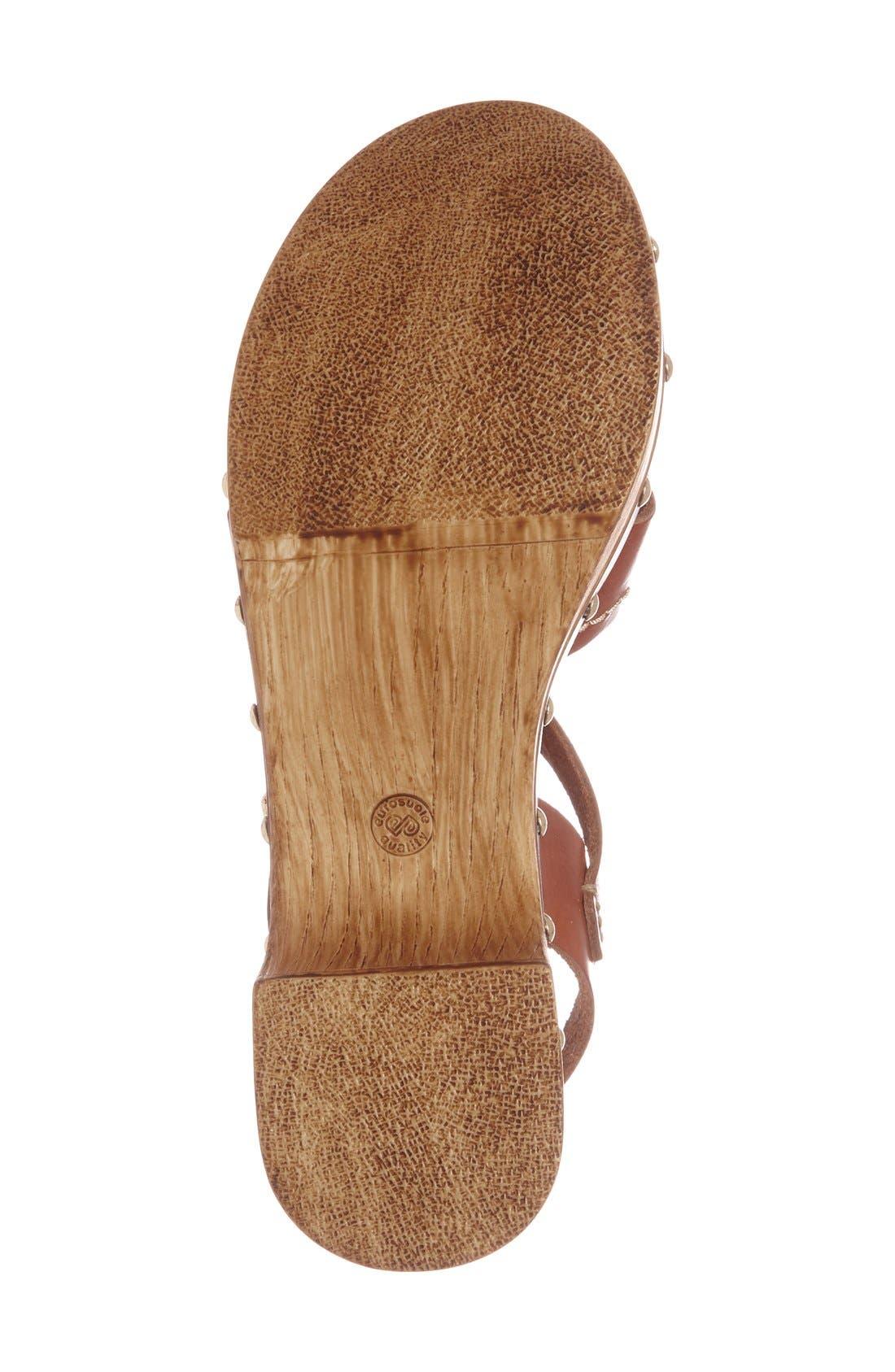 'VIV' Clog Sandals,                             Alternate thumbnail 4, color,                             Tan