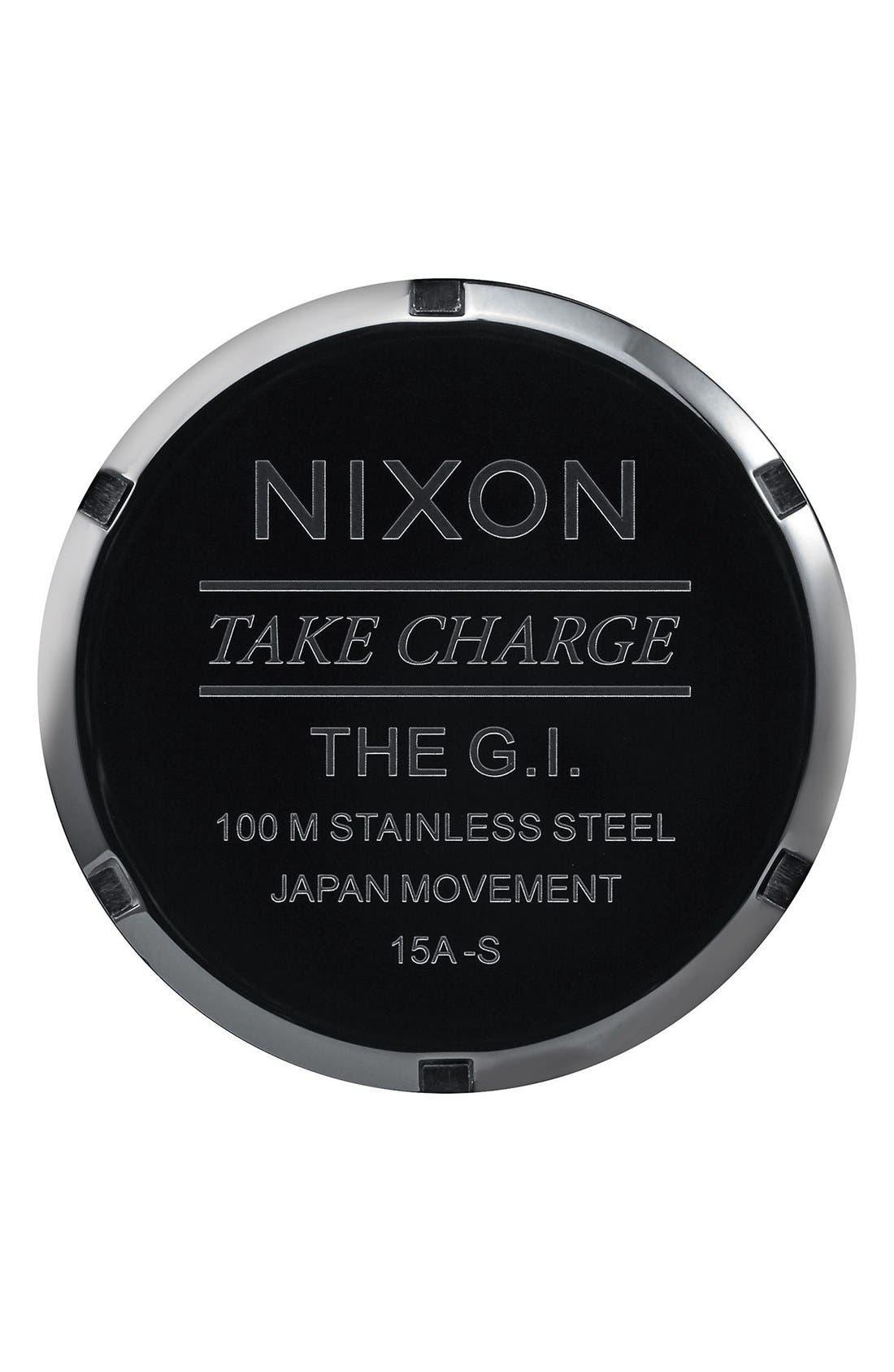 'G.I.' Round Dial Nylon Strap Watch, 36mm,                             Alternate thumbnail 4, color,                             Olive/ Black