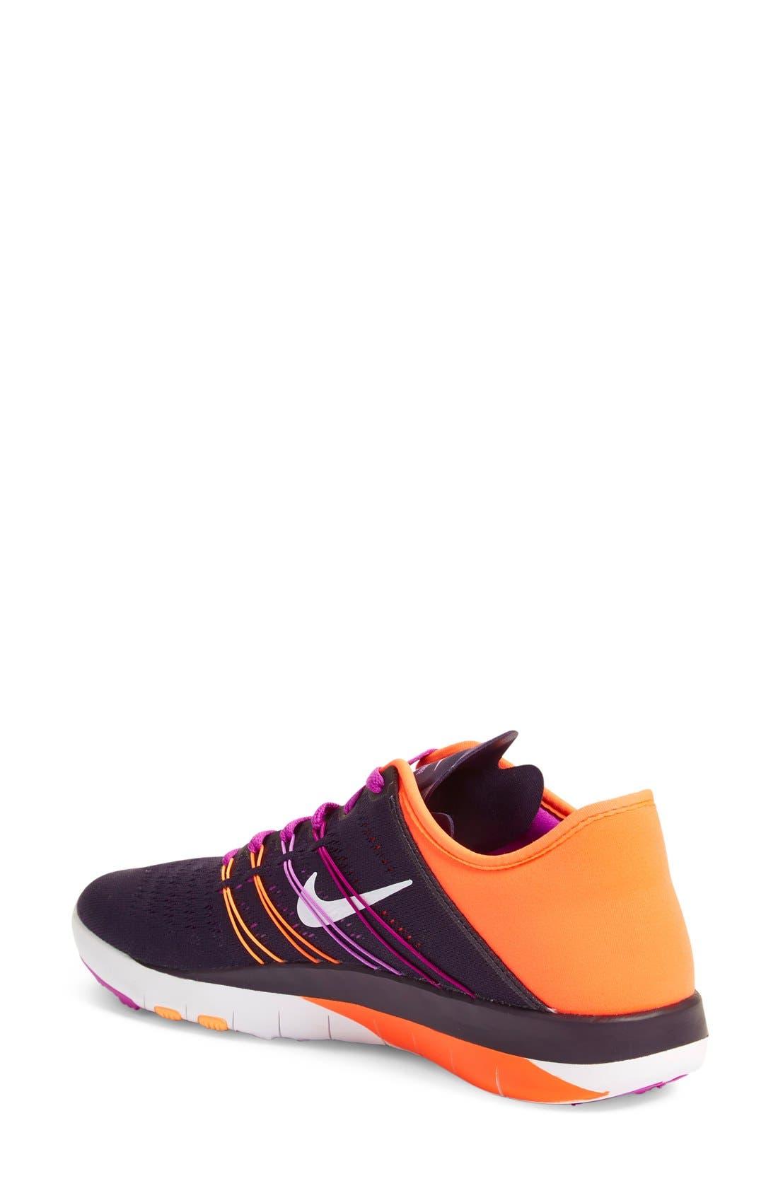 Free TR Fit 6 Training Shoe,                             Alternate thumbnail 2, color,                             Violet/ White/ Crimson