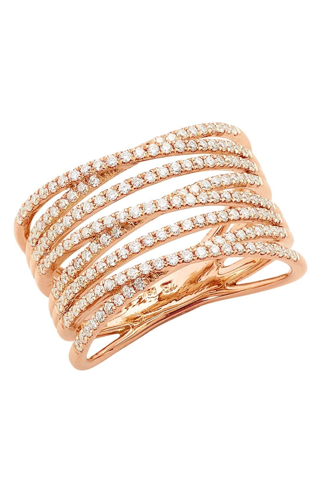 Bony Levy 'Liora' Eight Row Diamond Ring (Nordstrom Exclusive)