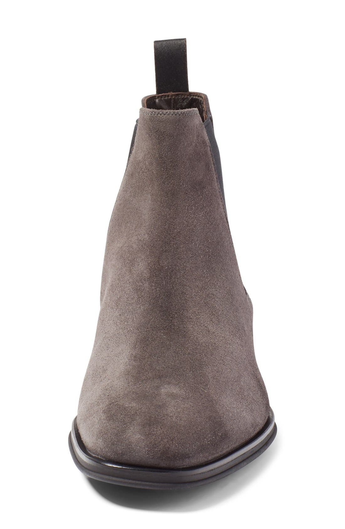Enrico Chelsea Boot,                             Alternate thumbnail 3, color,                             Grey Suede