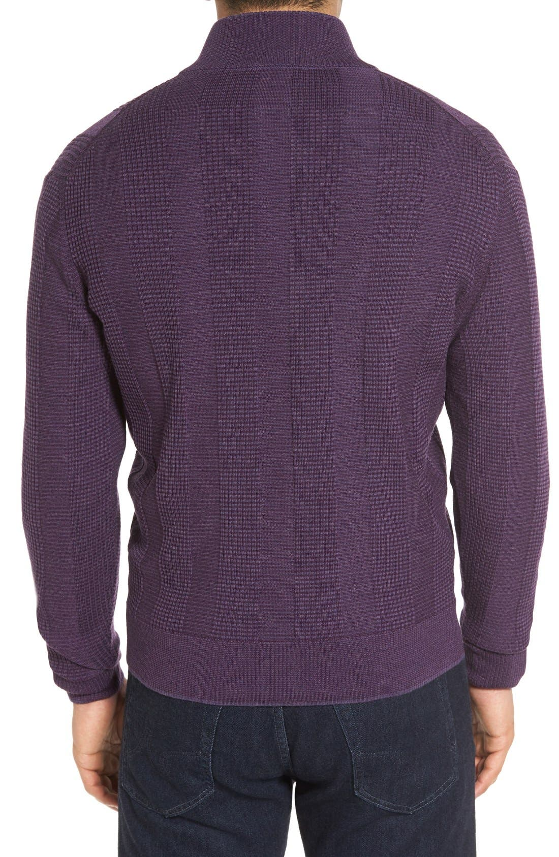 'Legacy Collection' Mock Neck Wool Sweater,                             Alternate thumbnail 2, color,                             Concord