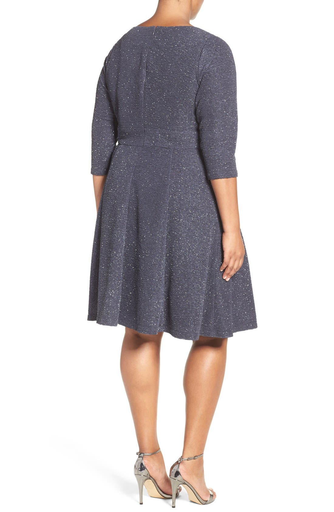 Alternate Image 2  - Eliza J Embellished Fit & Flare Dress