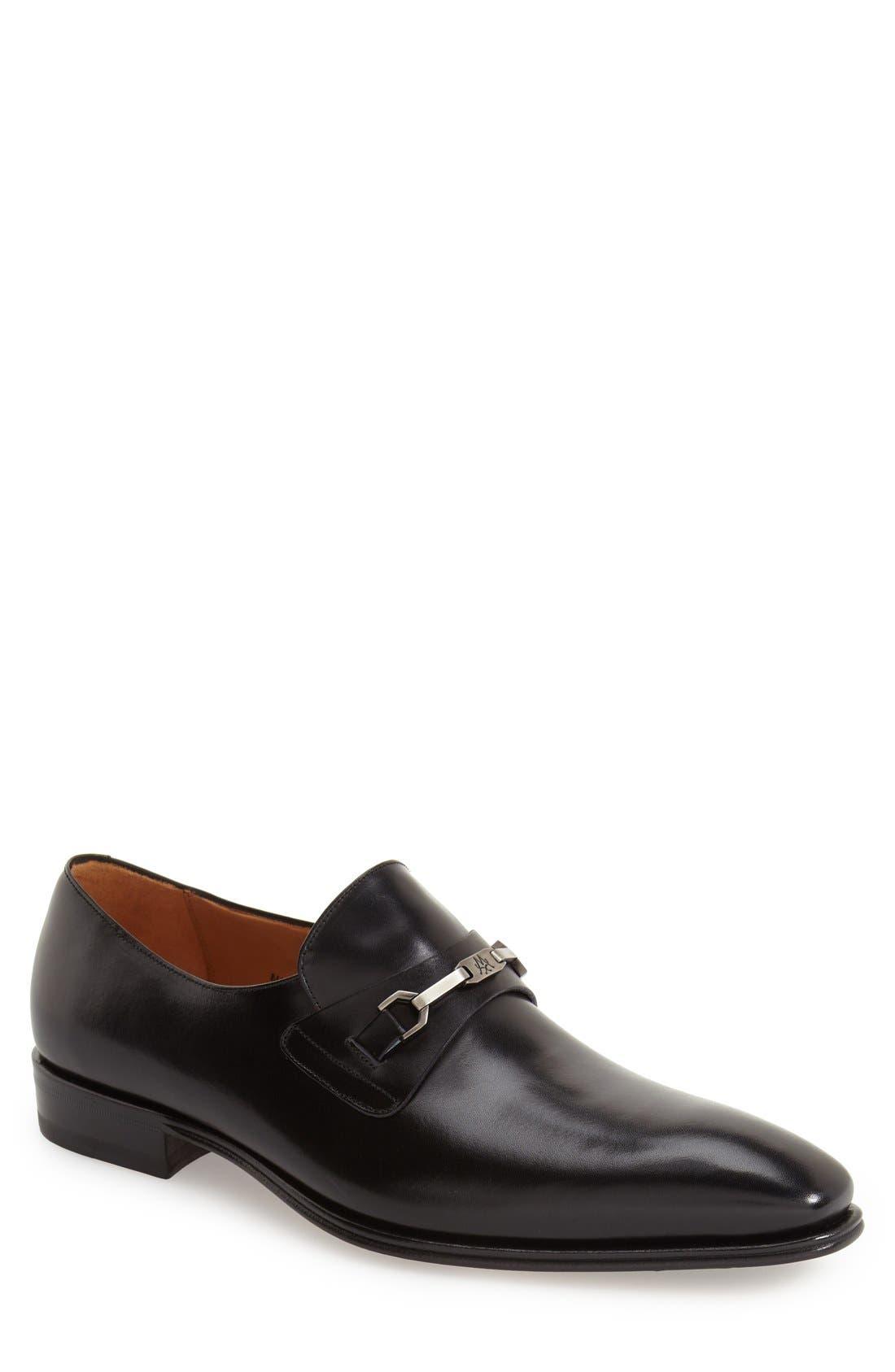 'Doria' Venetian Loafer,                             Main thumbnail 1, color,                             Black