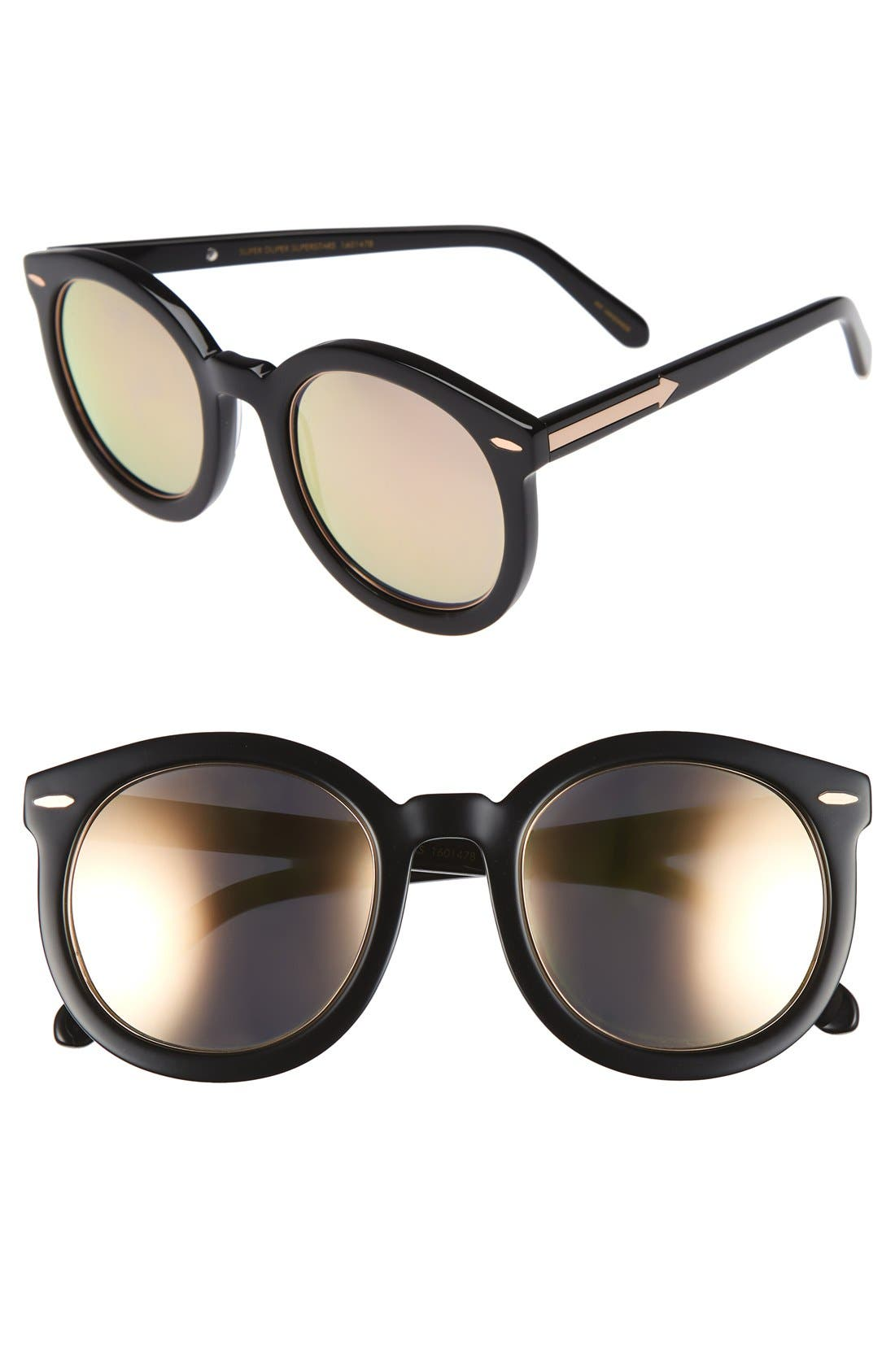 KAREN WALKER Super Duper Superstars 53mm Sunglasses