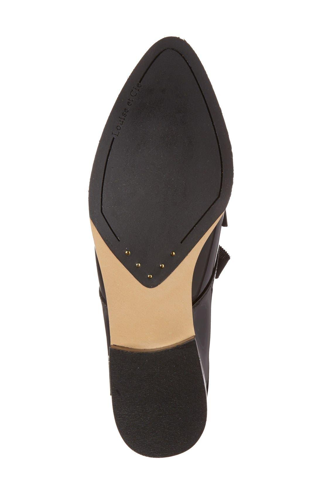 'Adwin' Almond Toe Oxford,                             Alternate thumbnail 4, color,                             Black Patent