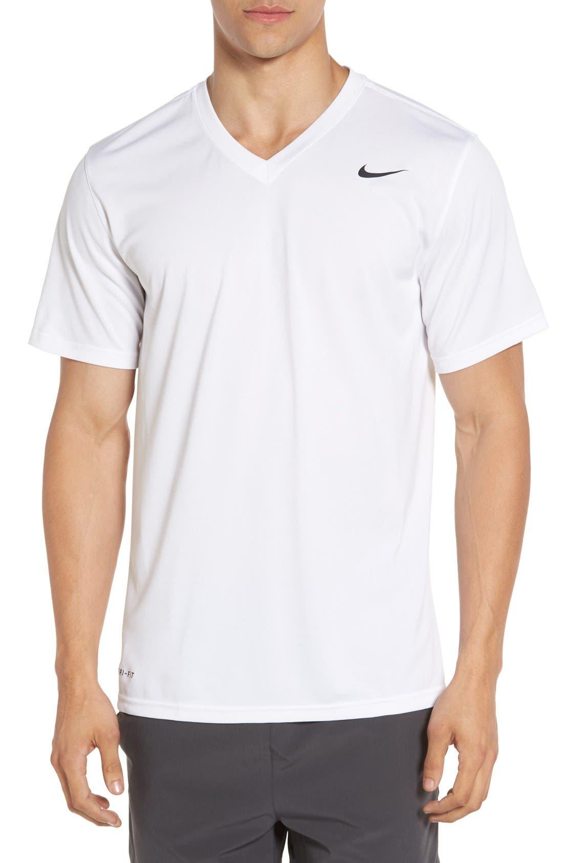 'Legend 2.0' Dri-FIT Training T-Shirt,                             Main thumbnail 1, color,                             White/ Black/ Black