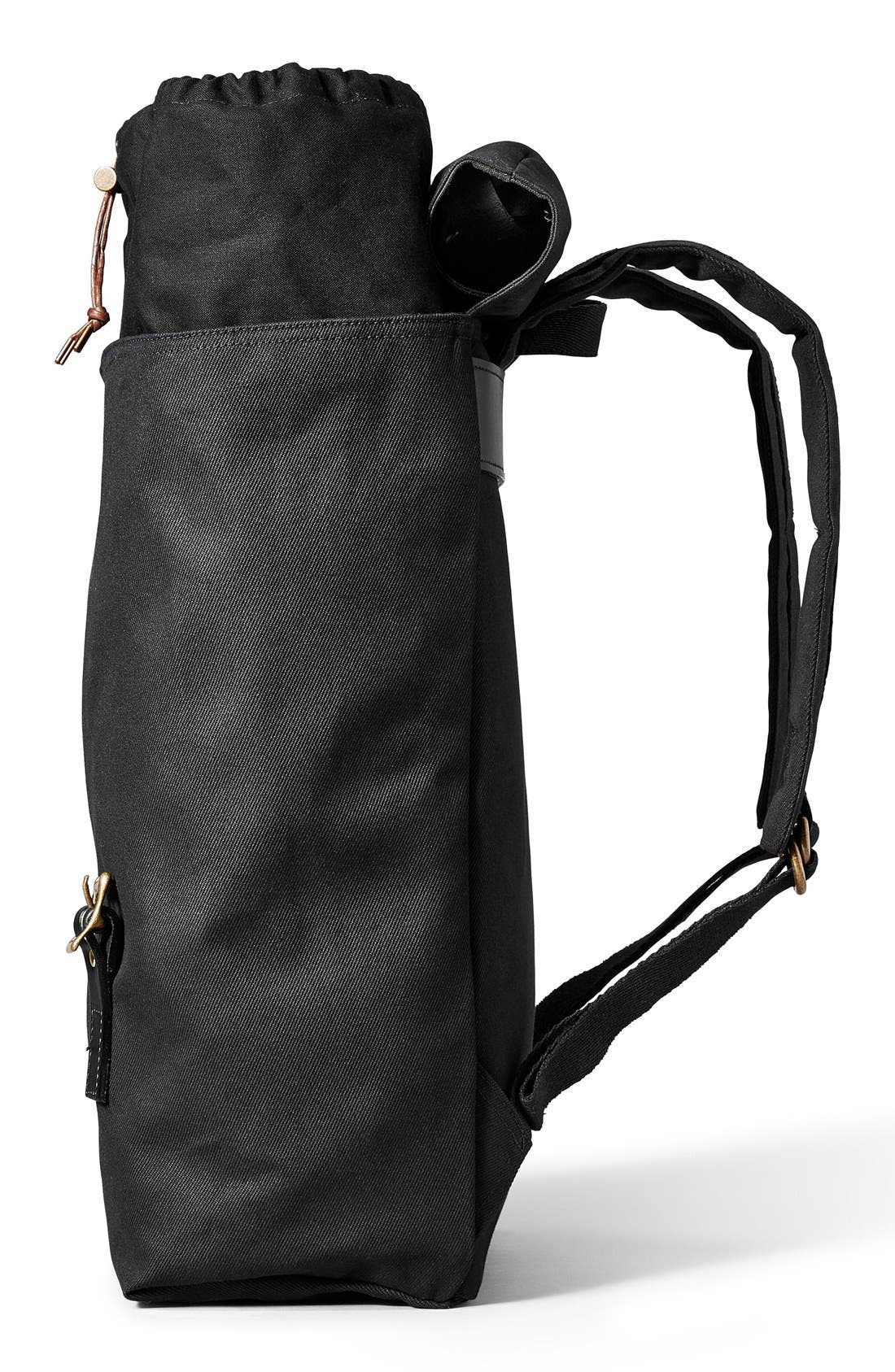 'Ranger' Canvas Backpack,                             Alternate thumbnail 4, color,                             Black