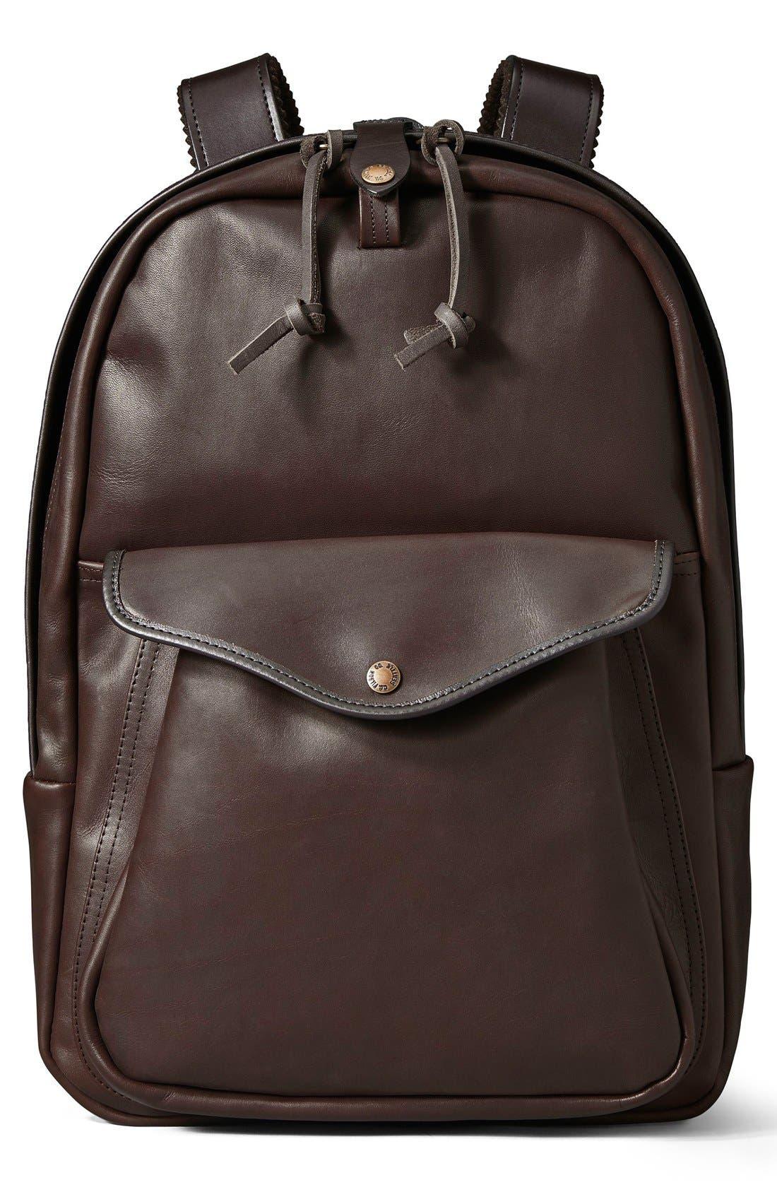 Filson Weatherproof Leather Backpack