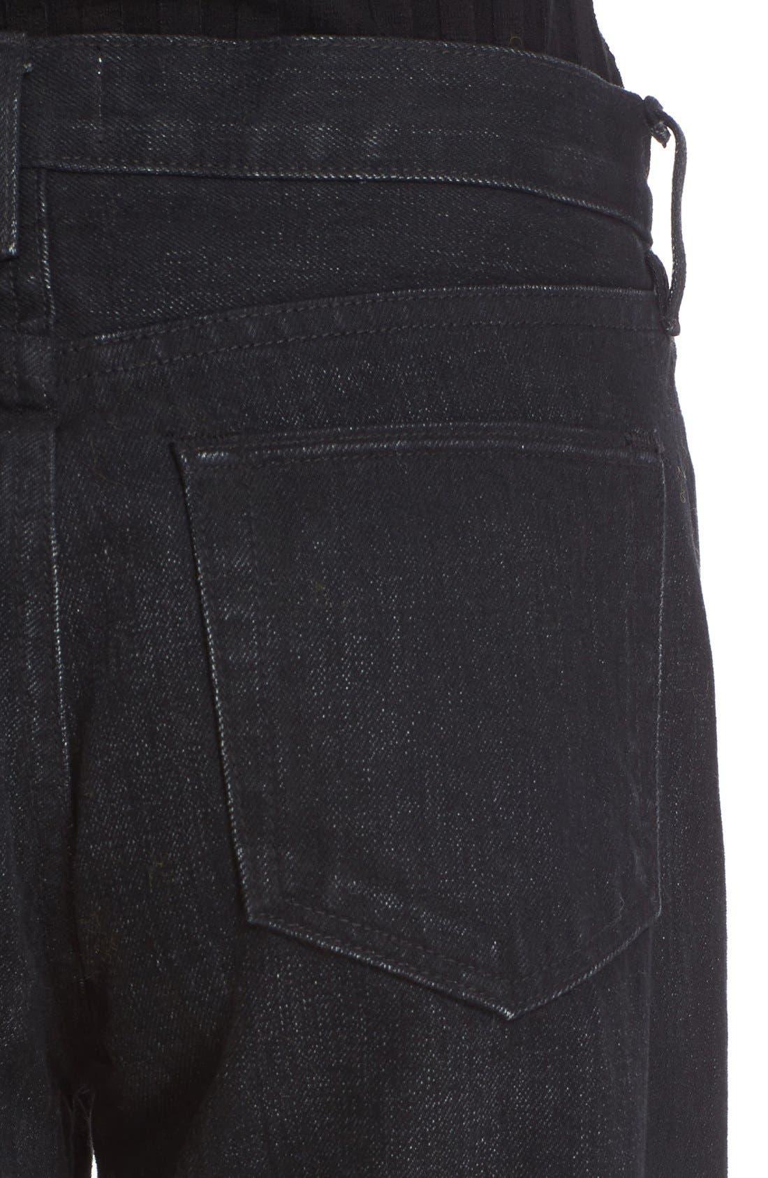 Alternate Image 6  - Simon Miller Wide Leg Jeans (Black)