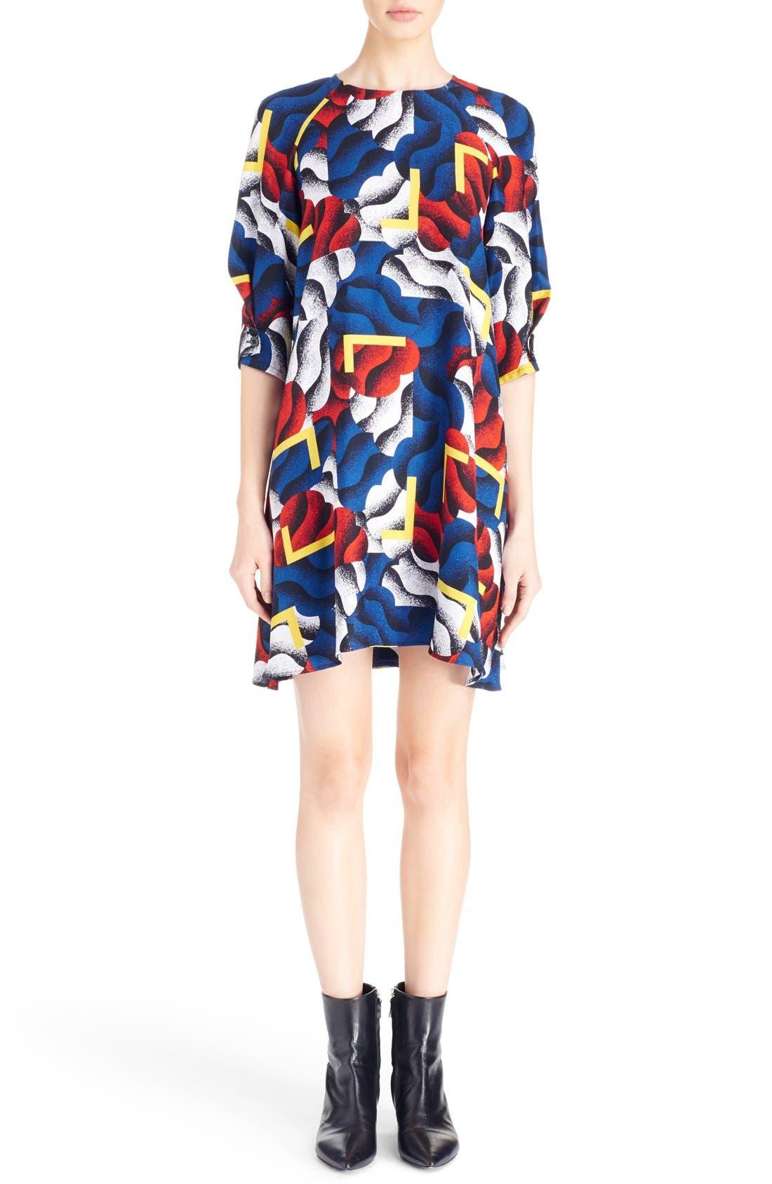 Alternate Image 1 Selected - KENZO 'Clouds & Corners' Print Silk Dress