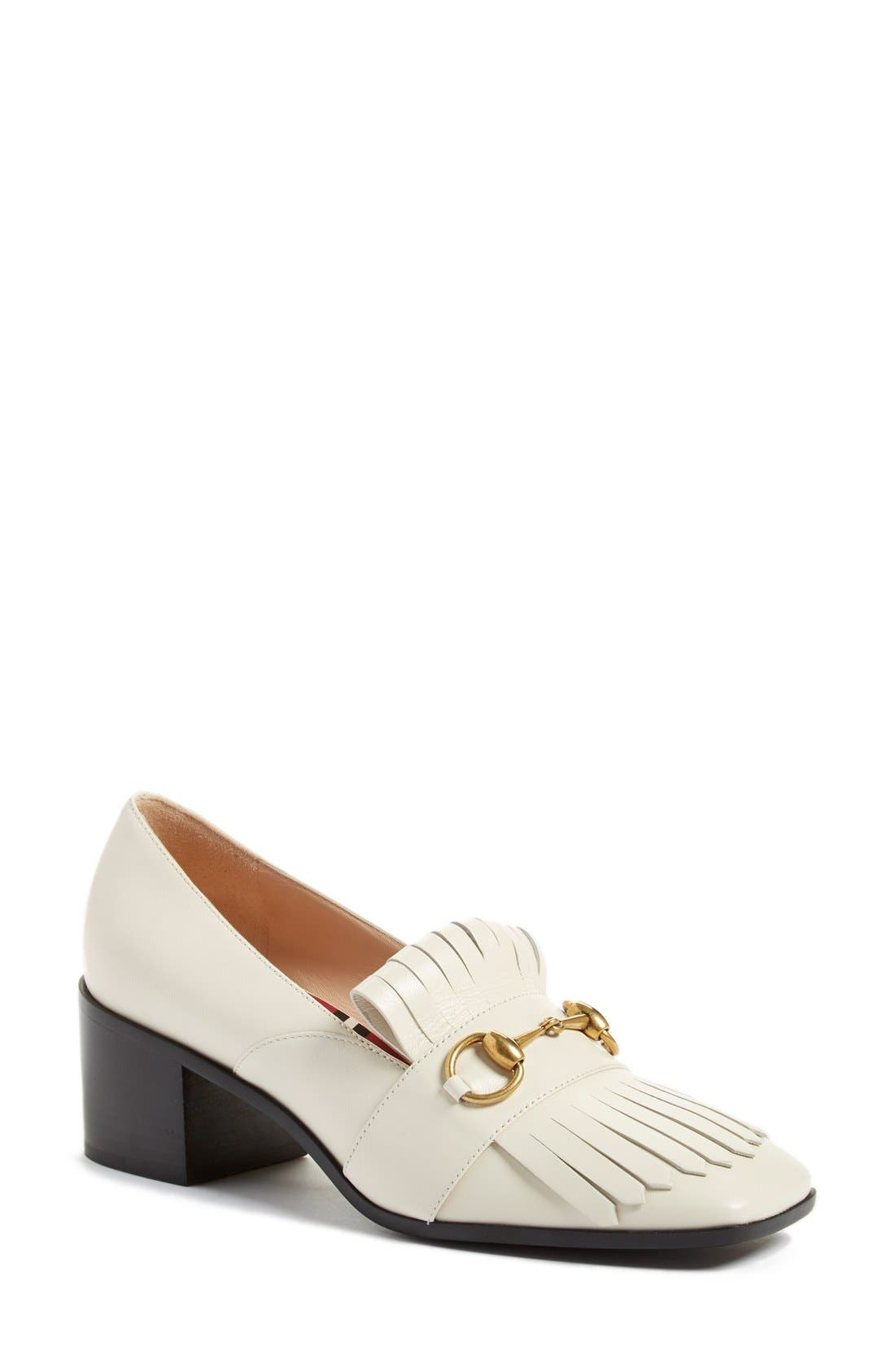Gucci 'Polly' Block Heel Pump (Women)