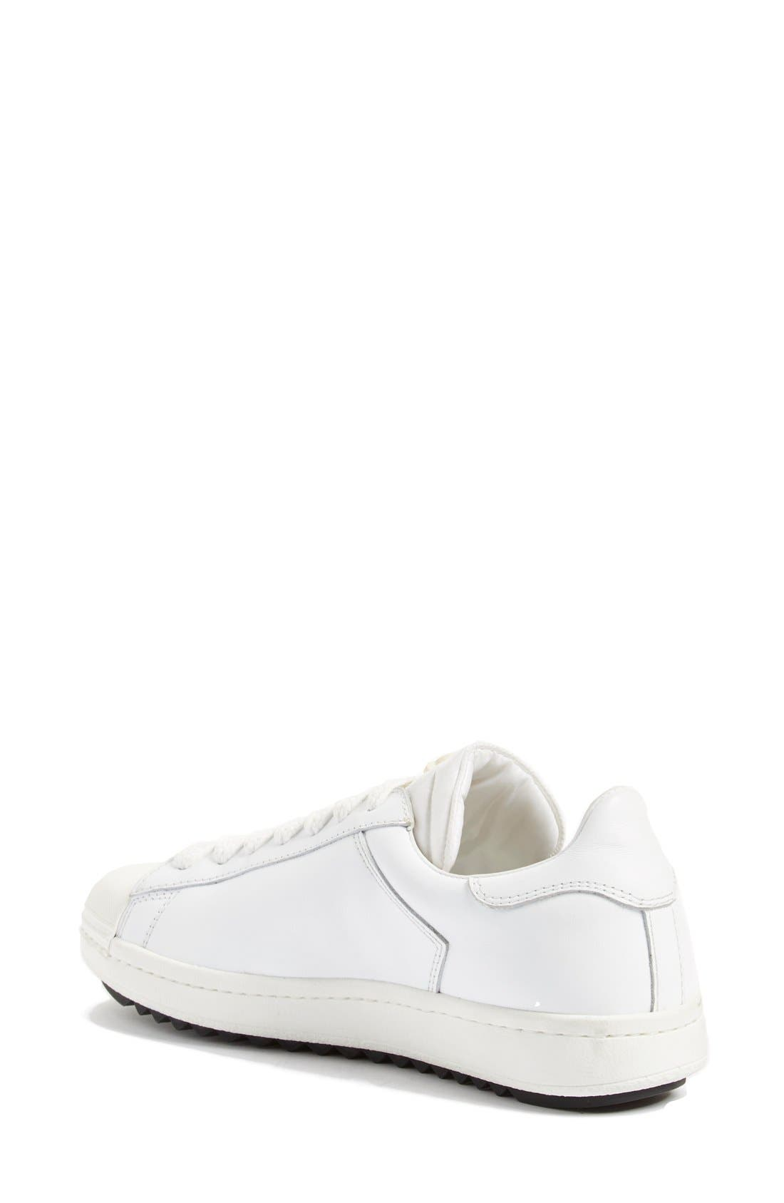 'Angeline Scarpa' Sneaker,                             Alternate thumbnail 2, color,                             White Leather