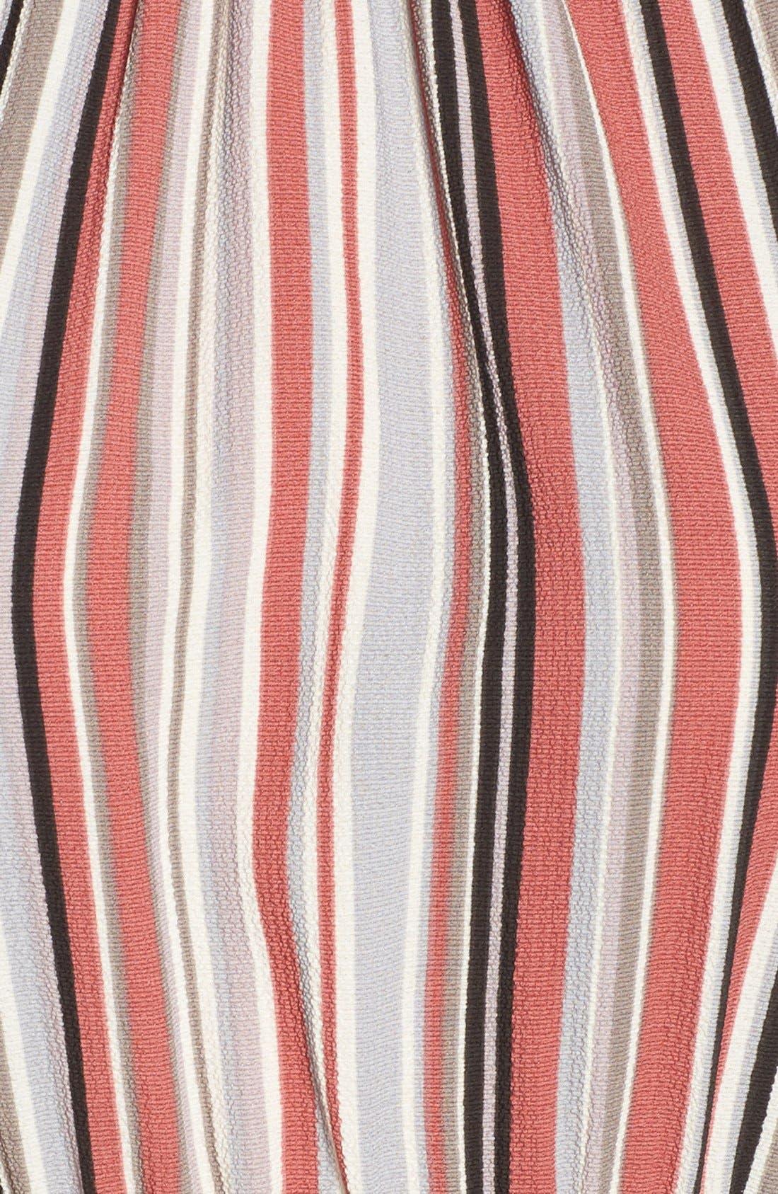 Alternate Image 5  - Soprano Stripe Handkerchief Hem Halter Dress