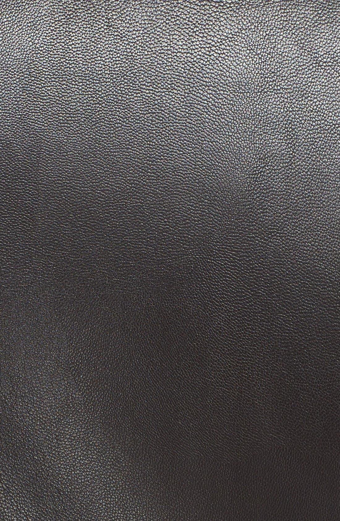 Alternate Image 3  - Moschino Chain & Imitation Pearl Embellished Faux Leather Jacket