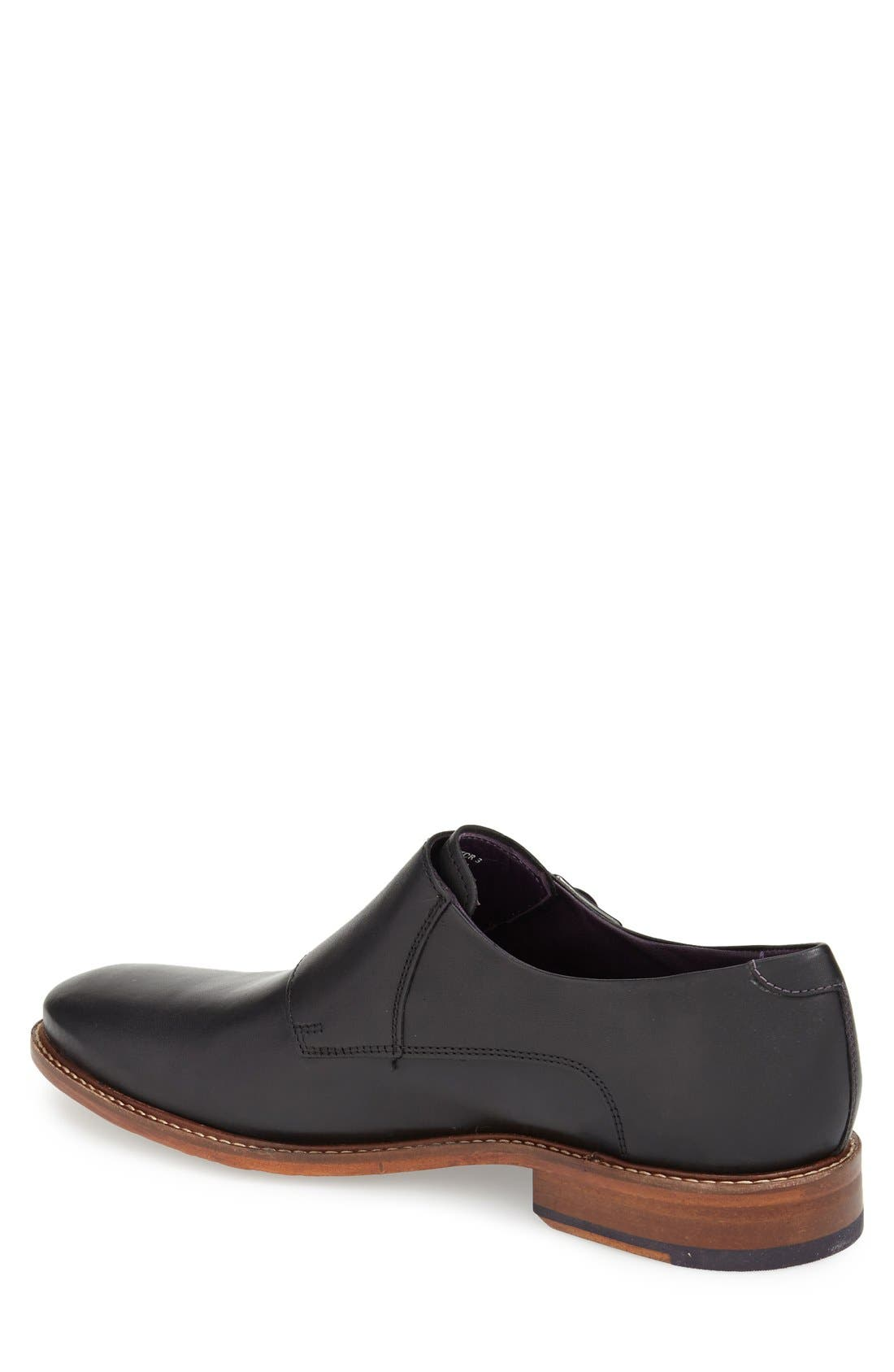 'Kartor 3' Double Monk Strap Shoe,                             Alternate thumbnail 2, color,                             Black