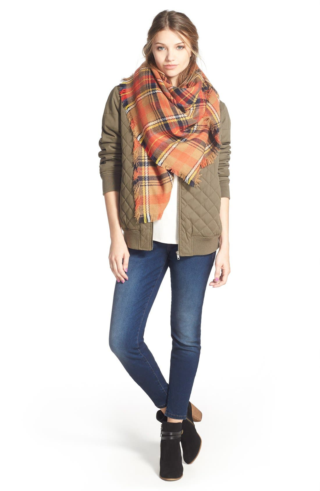 Alternate Image 2  - BP. 'Autumn' Plaid Scarf