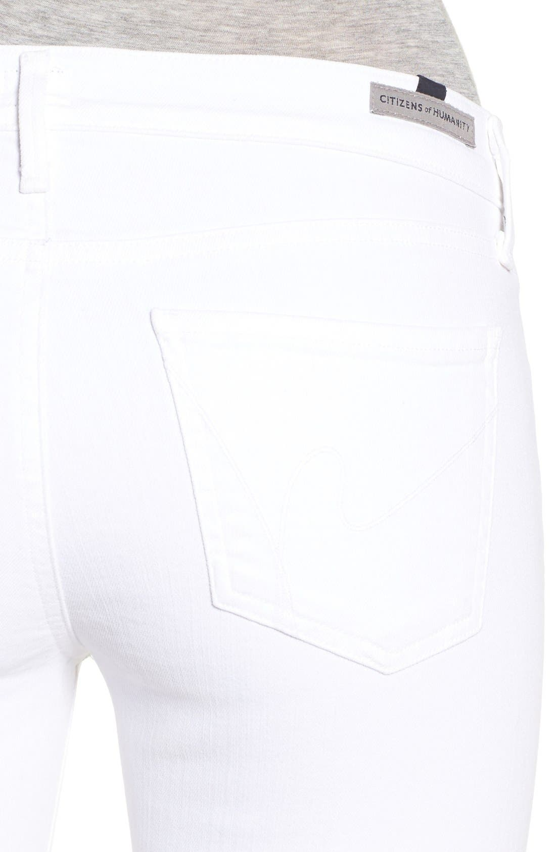 Alternate Image 4  - Citizens of Humanity Skinny Ankle Jeans (Optic White)