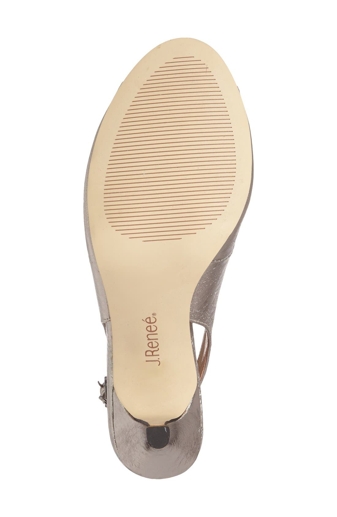 Alternate Image 4  - J. Reneé 'Gardenroad' Slingback Peep Toe Pump (Women)