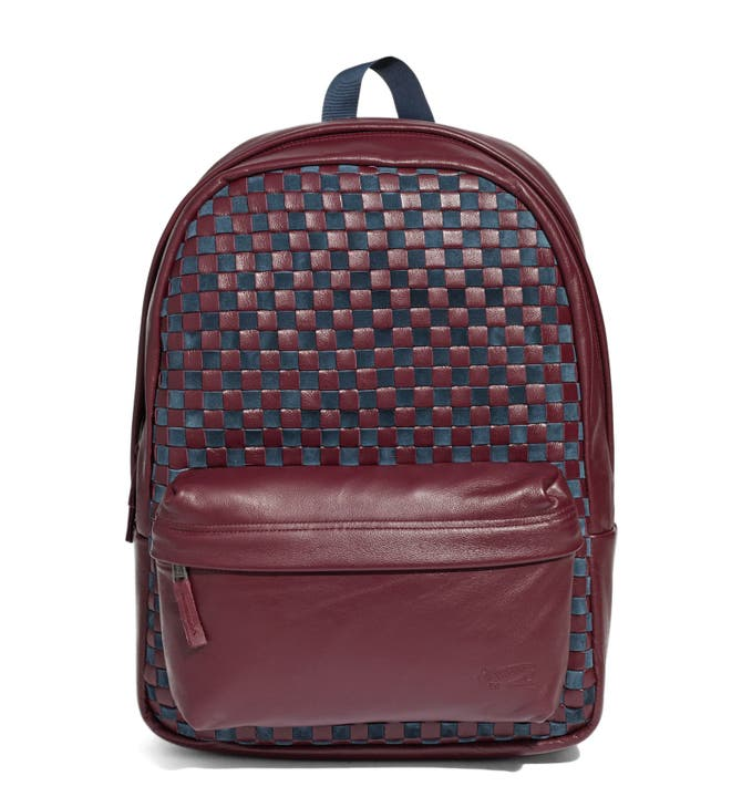Vans 'Checker' Leather Backpack (Nordstrom Exclusive) | Nordstrom