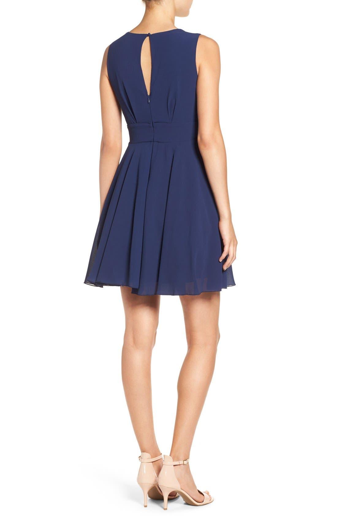 Alternate Image 2  - TFNC V-Neck Fit & Flare Dress