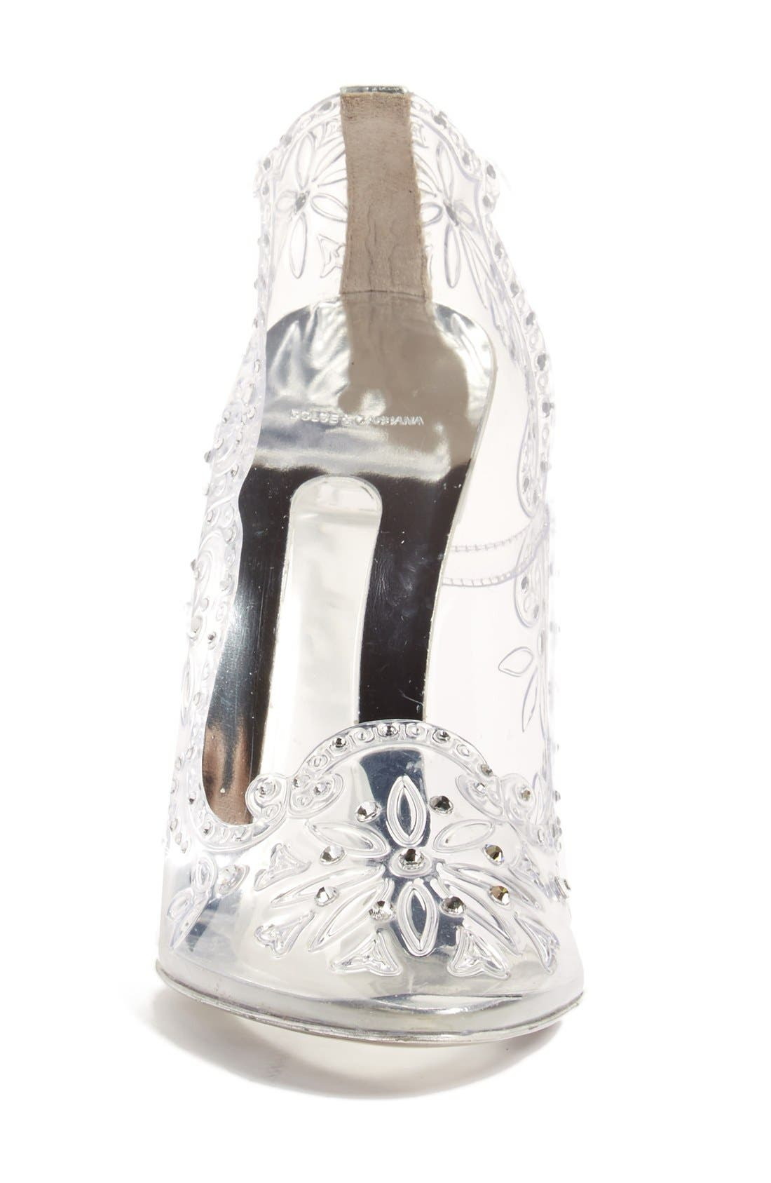 Alternate Image 3  - Dolce&Gabbana 'Glass Slipper' Pump (Women)