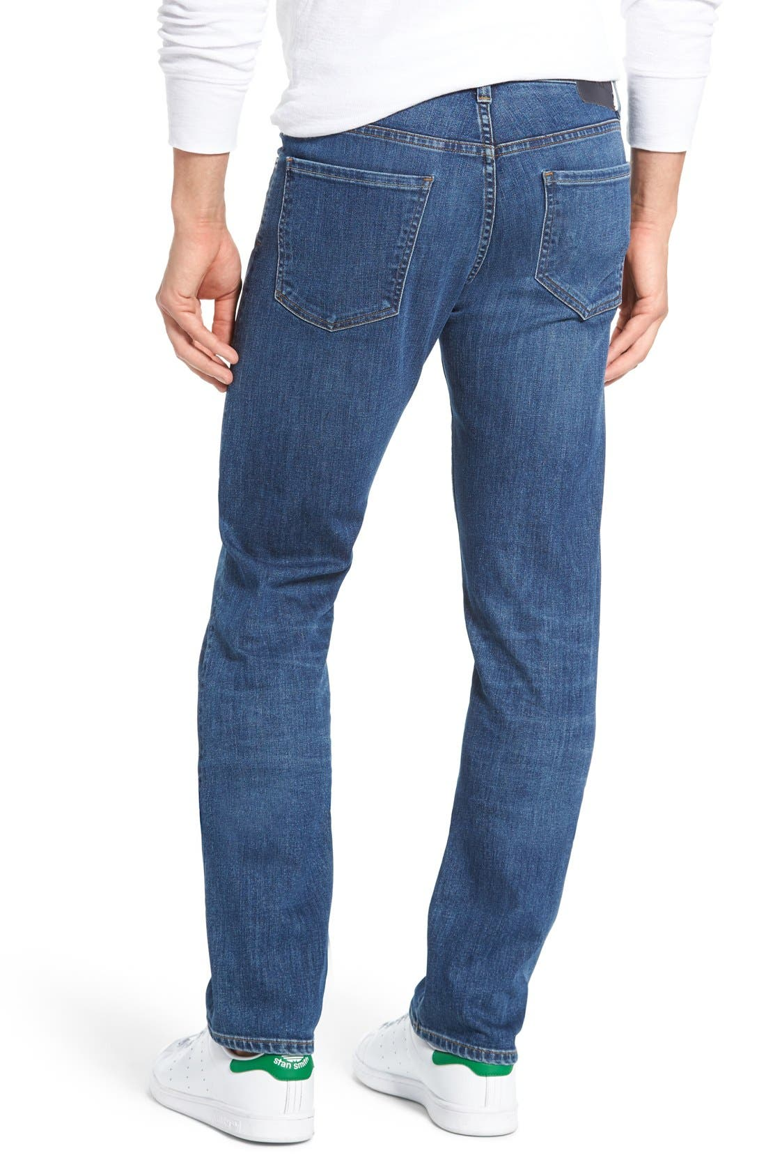 'Core' Slim Fit Jeans,                             Alternate thumbnail 2, color,                             Brunswick
