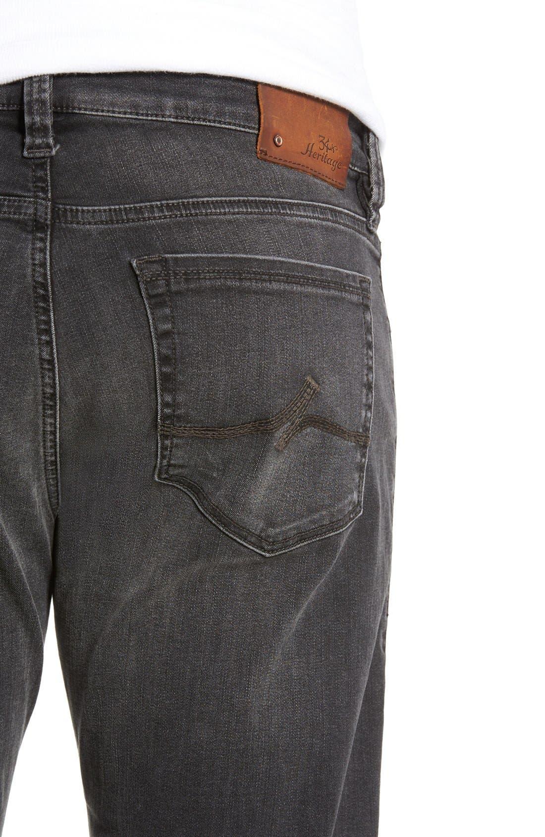 Alternate Image 4  - 34 Heritage 'Courage' Straight Leg Jeans (Coal Soft)