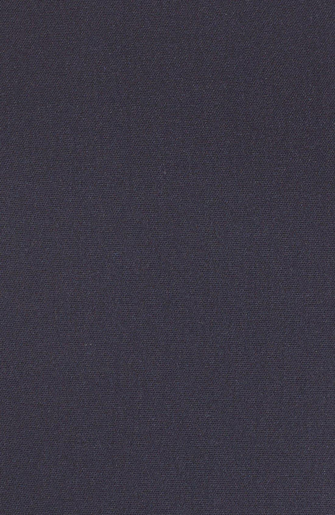 Cap Sleeve Crepe Sheath Dress,                             Alternate thumbnail 5, color,                             Navy