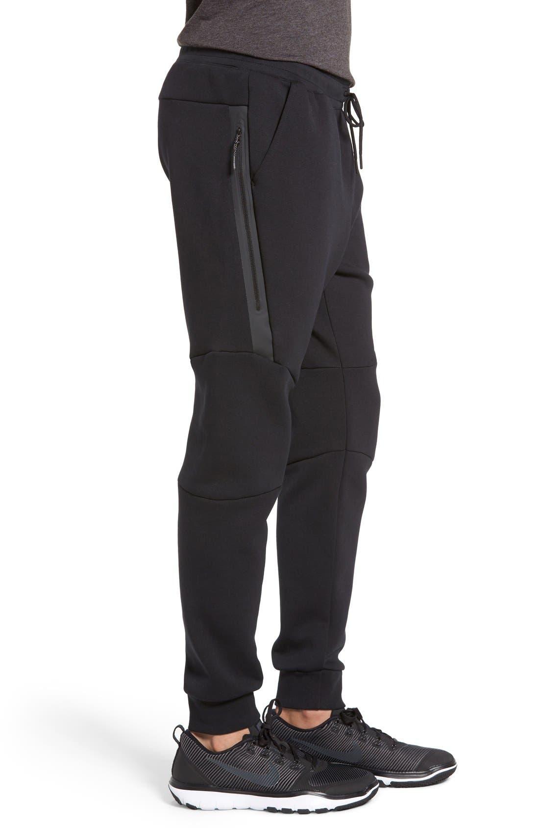 Tech Fleece Jogger Pants,                             Alternate thumbnail 4, color,                             Black/ Black