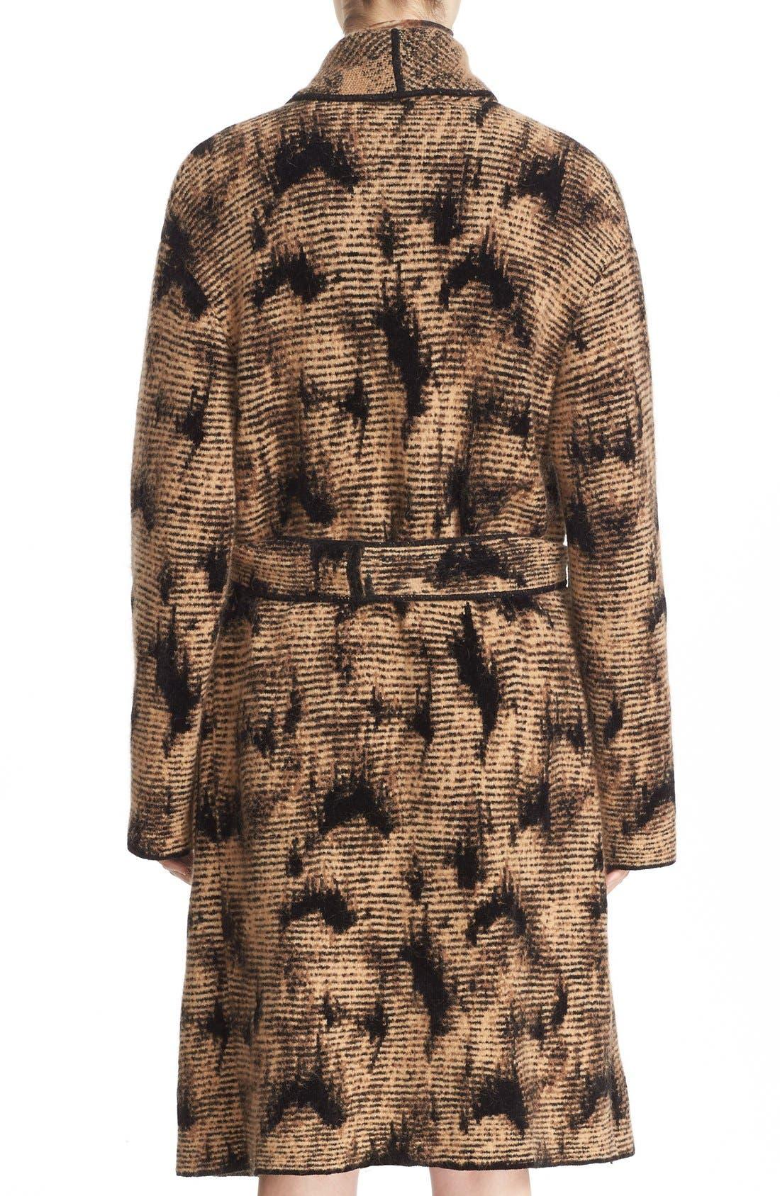 Alternate Image 2  - Fuzzi Jacquard Knit Coat