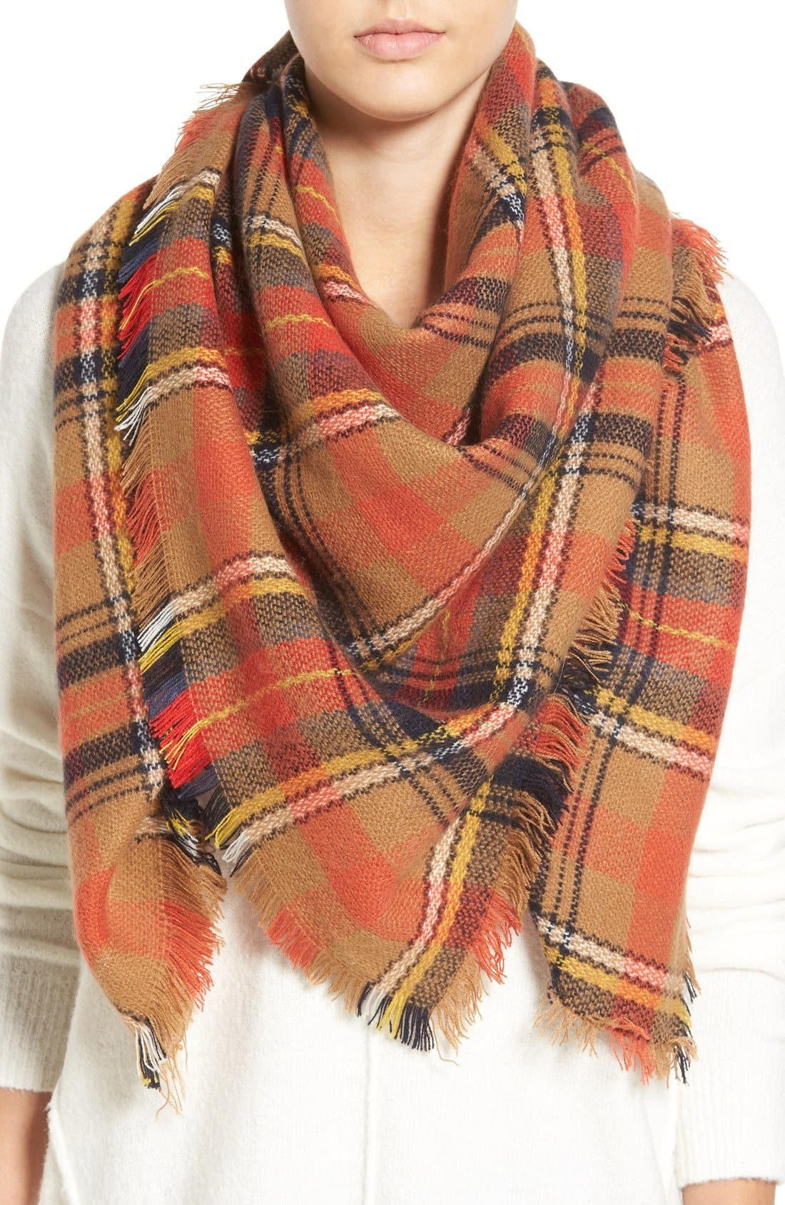 Main Image - BP. 'Autumn' Plaid Scarf