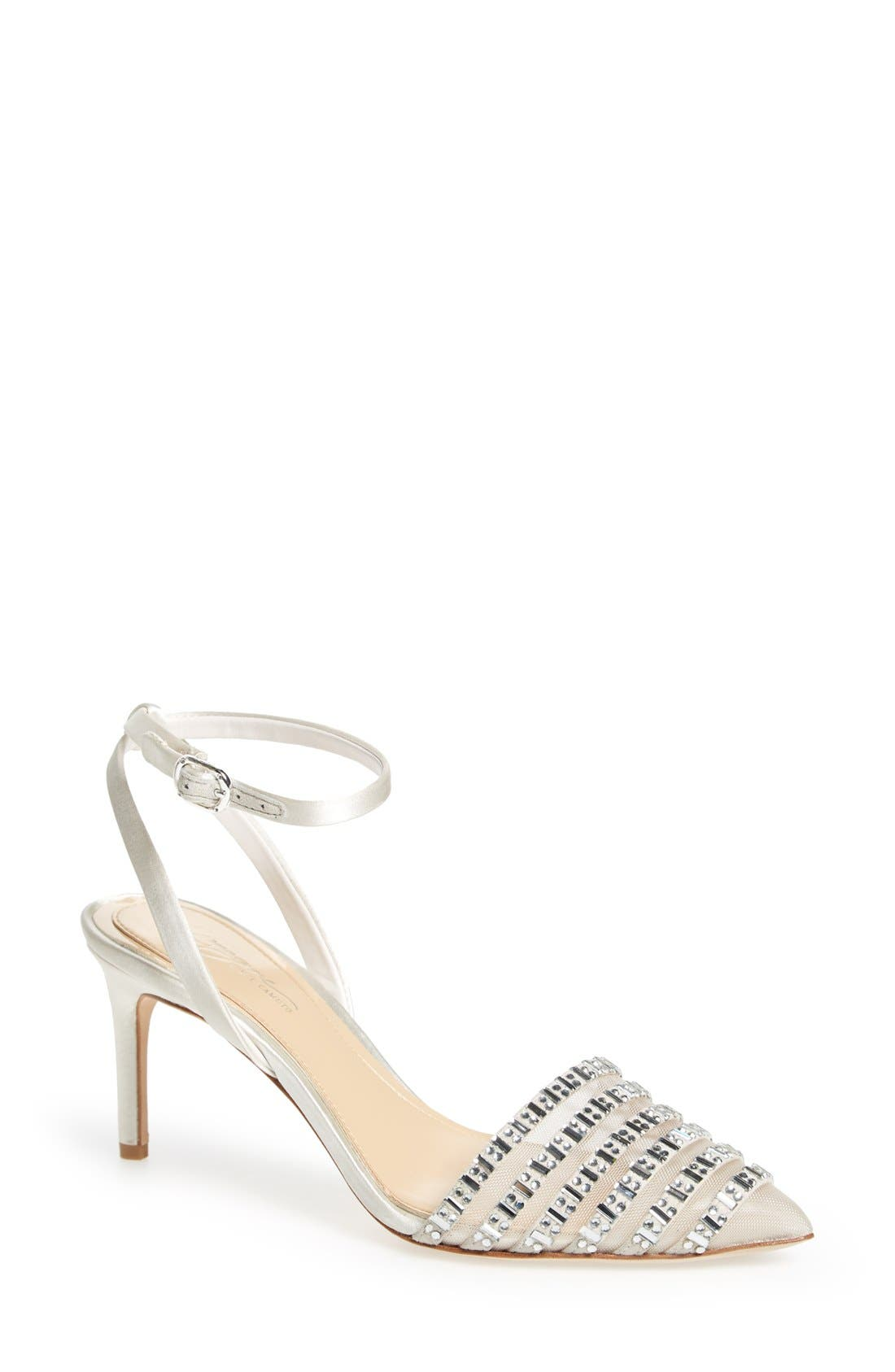 'Michael' Sandal,                             Main thumbnail 1, color,                             Ivory Satin