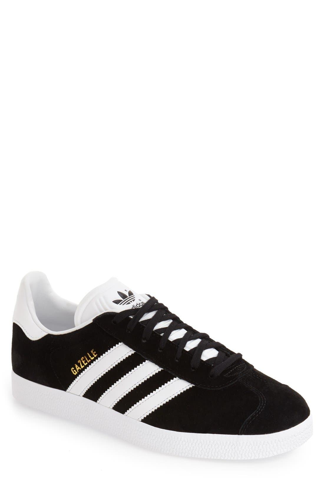 Gazelle Sneaker,                         Main,                         color, Black