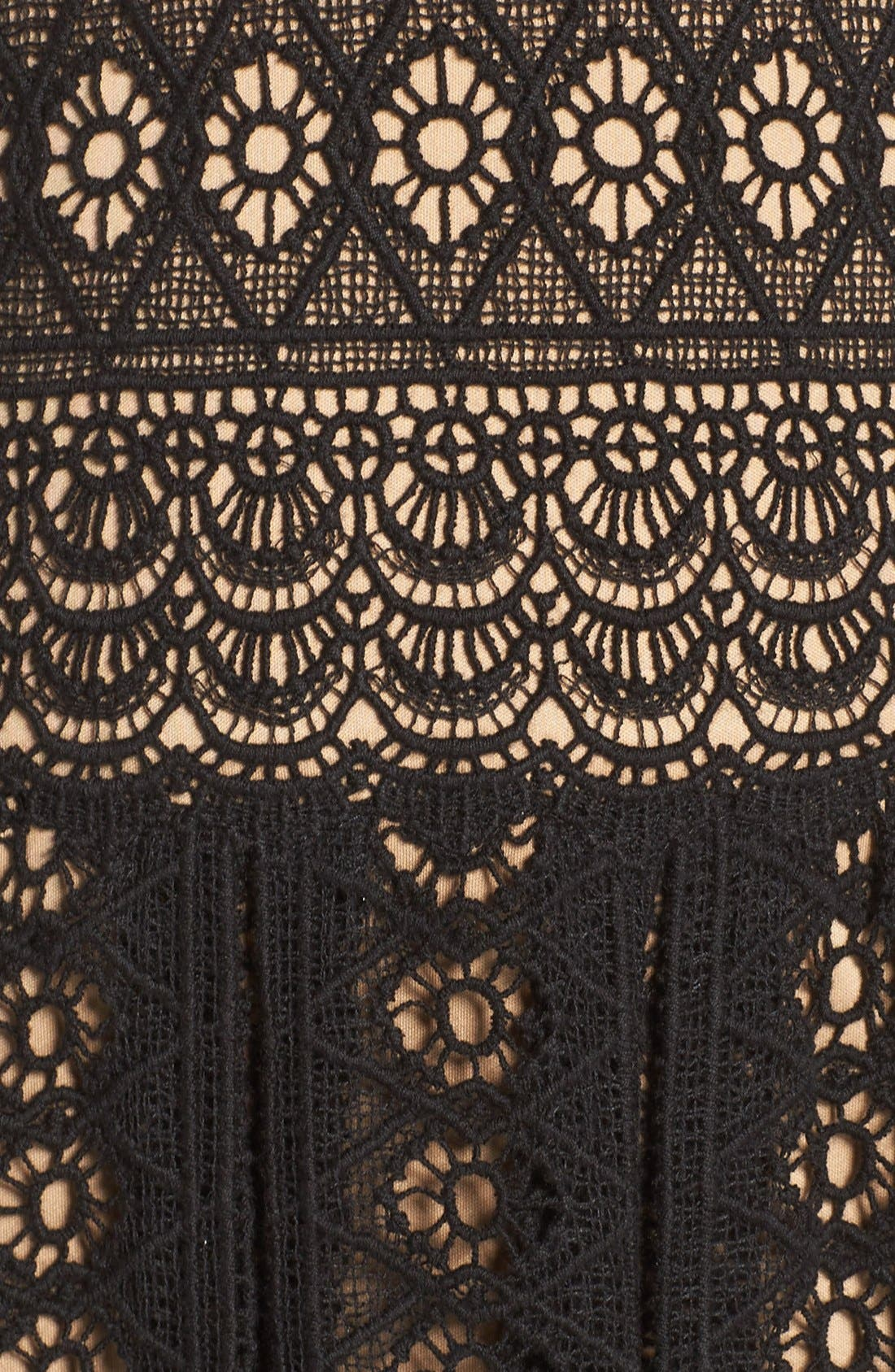 Alternate Image 5  - Tadashi Shoji Crochet Lace Fit & Flare Gown