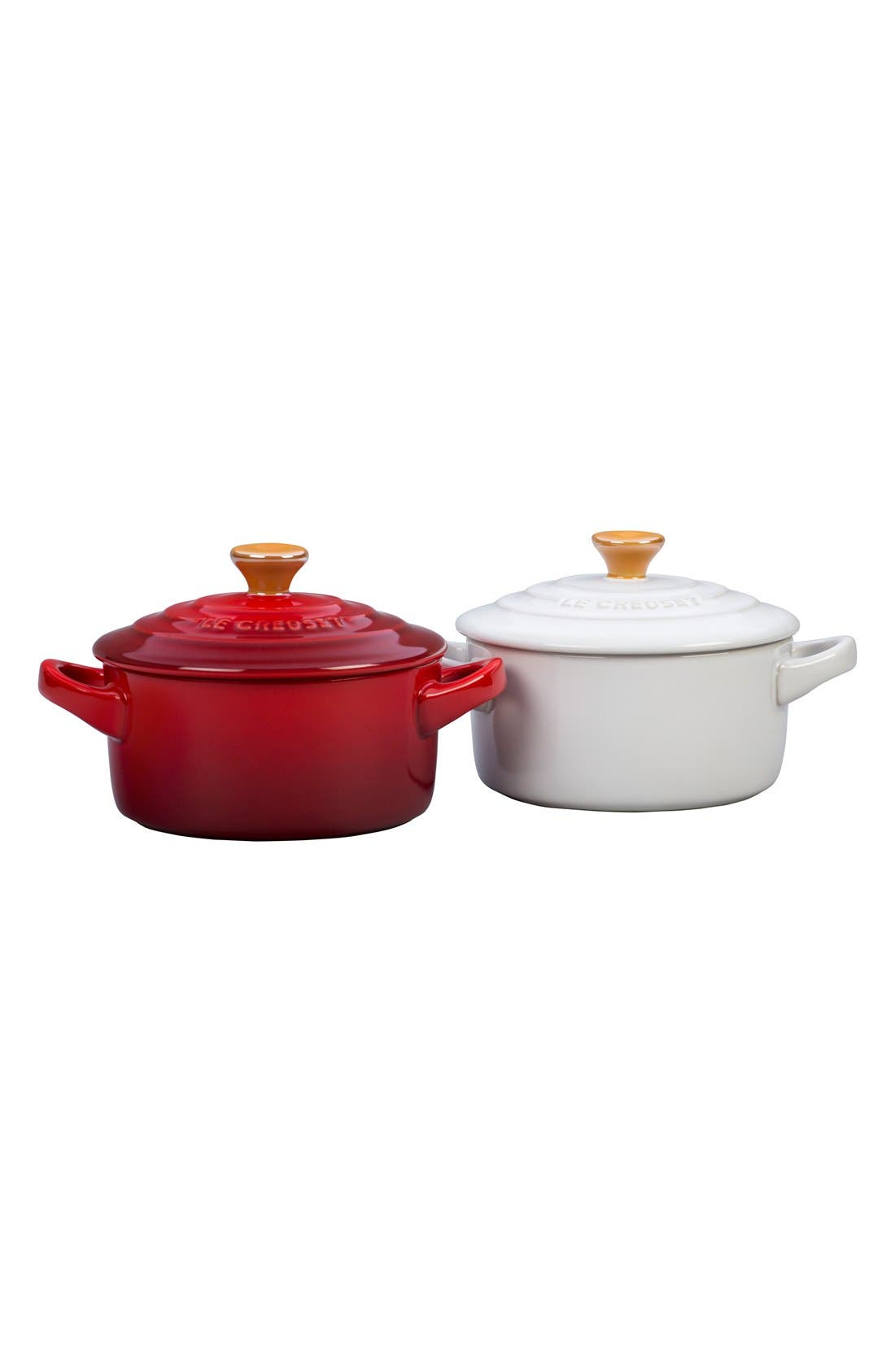 Le Creuset Set of Two 8 Ounce Mini Cocottes