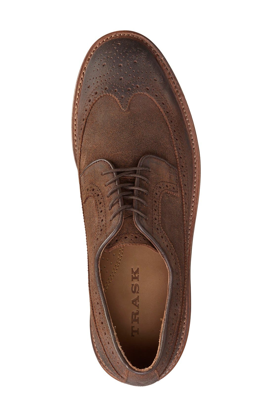 'Maddox' Wingtip,                             Alternate thumbnail 3, color,                             Snuff Suede