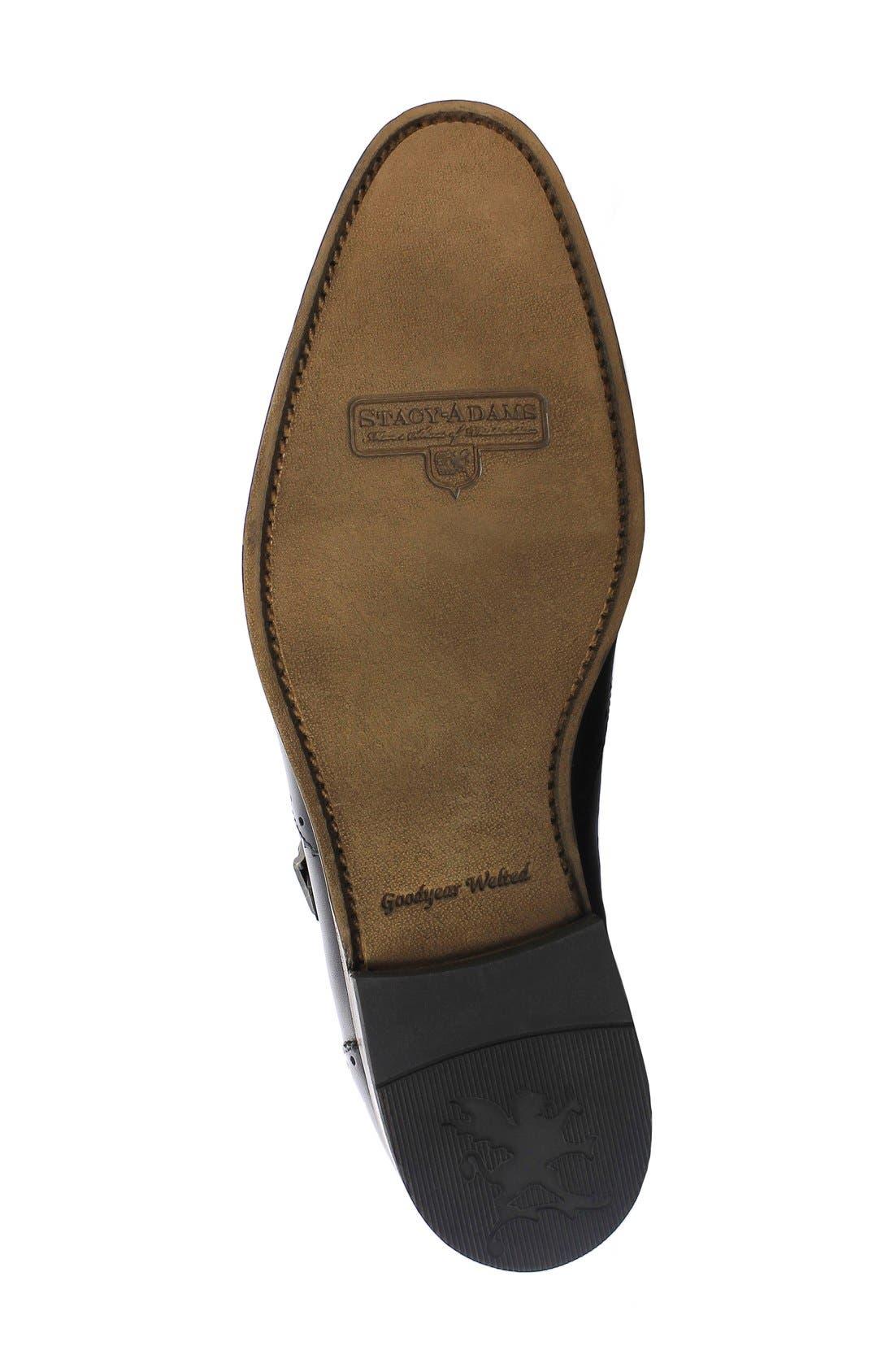 Madison II Monk Strap Shoe,                             Alternate thumbnail 4, color,                             Black